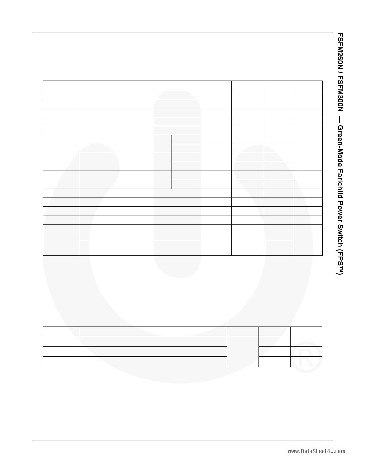 FSFM260N pdf