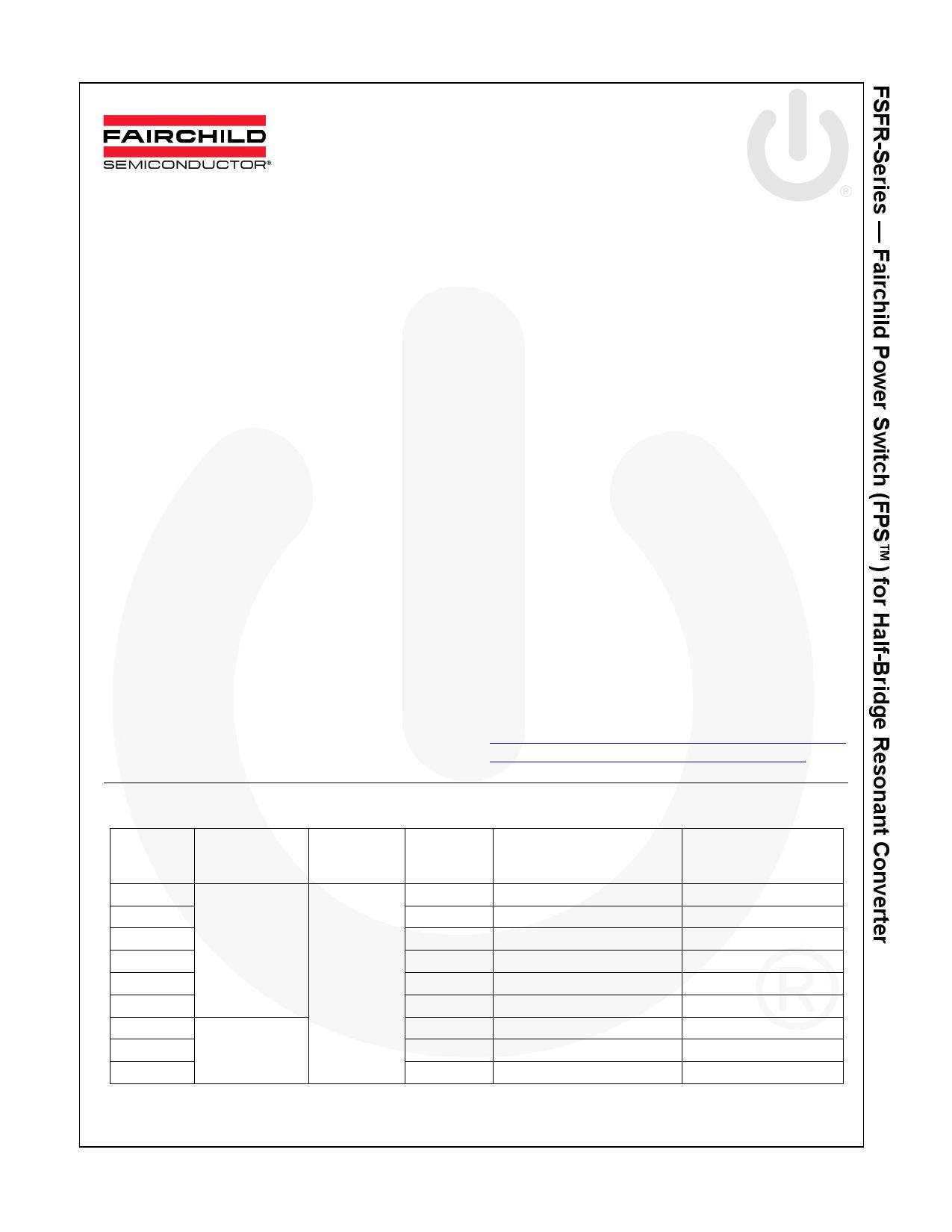 FSFR1800L datasheet
