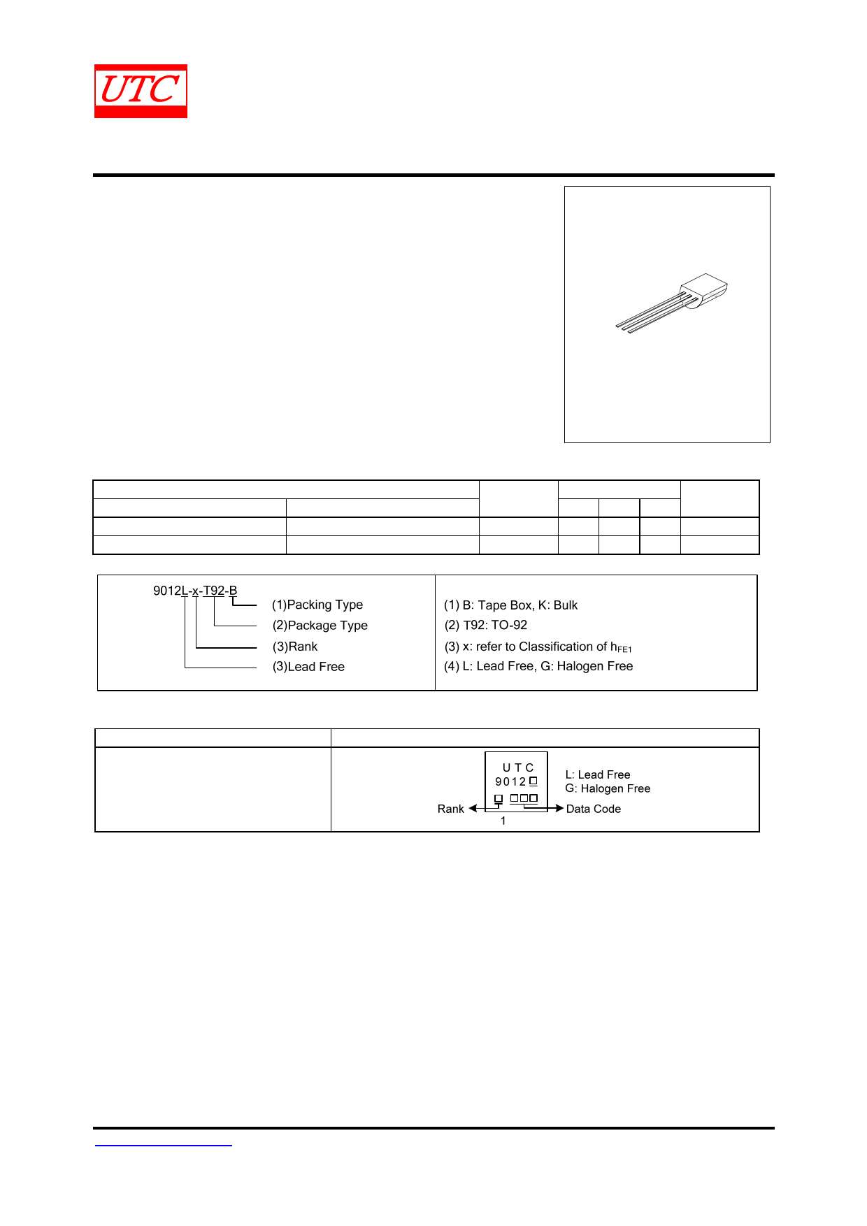 9012 datasheet