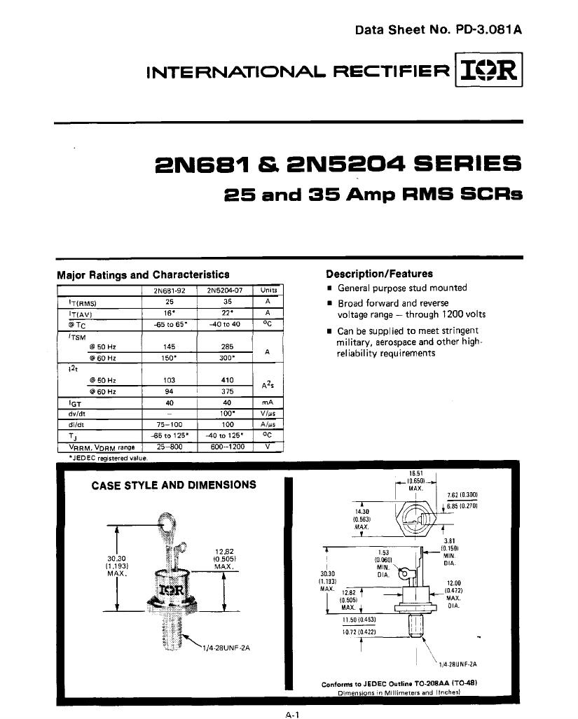 2N5204 دیتاشیت PDF