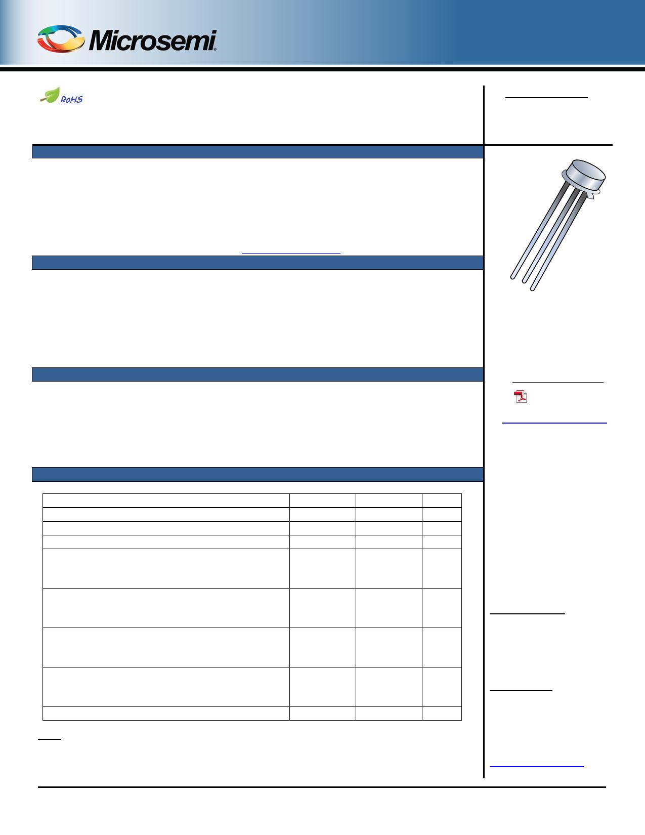 2N2945A دیتاشیت PDF