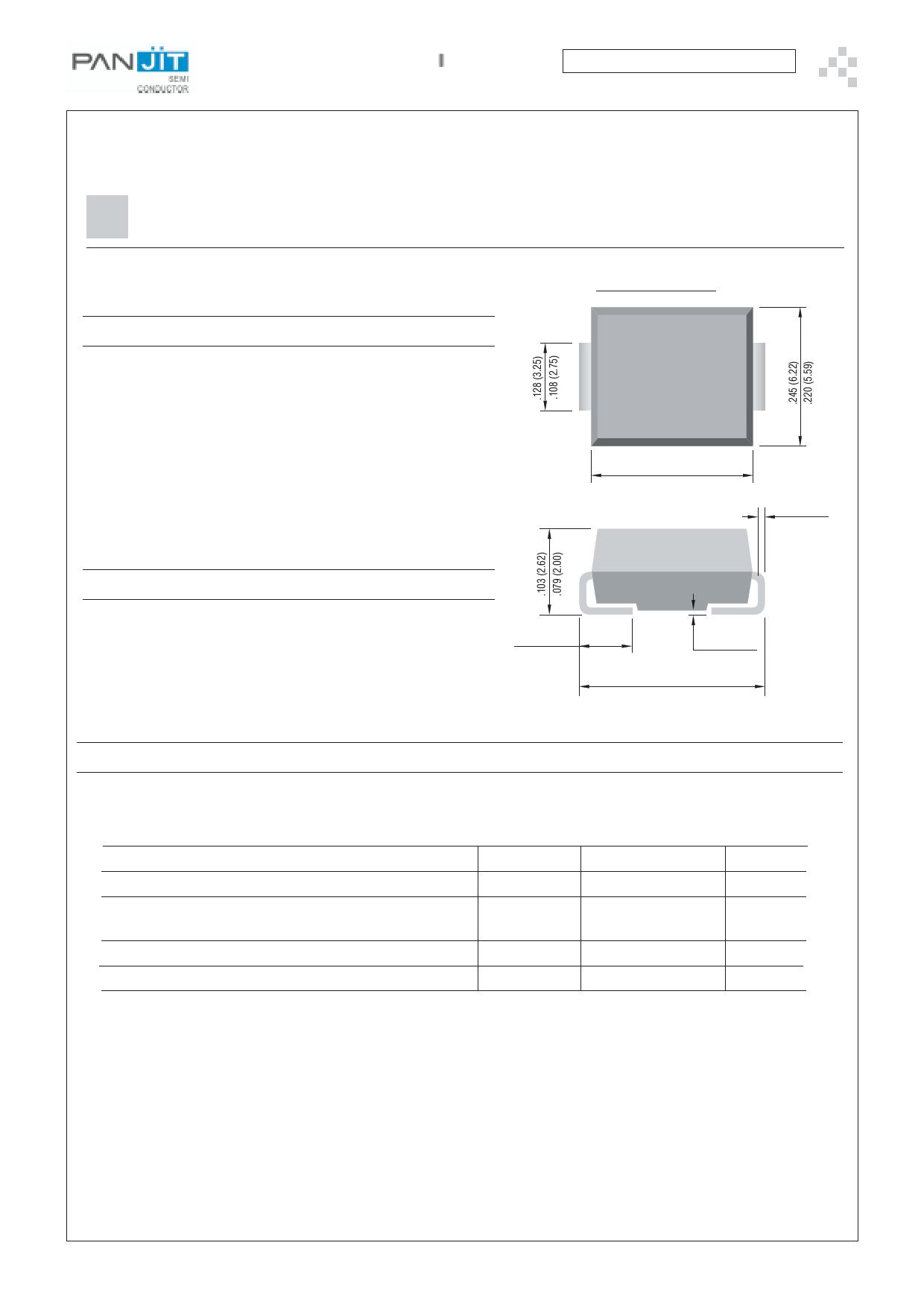 3.0SMCJ100 دیتاشیت PDF