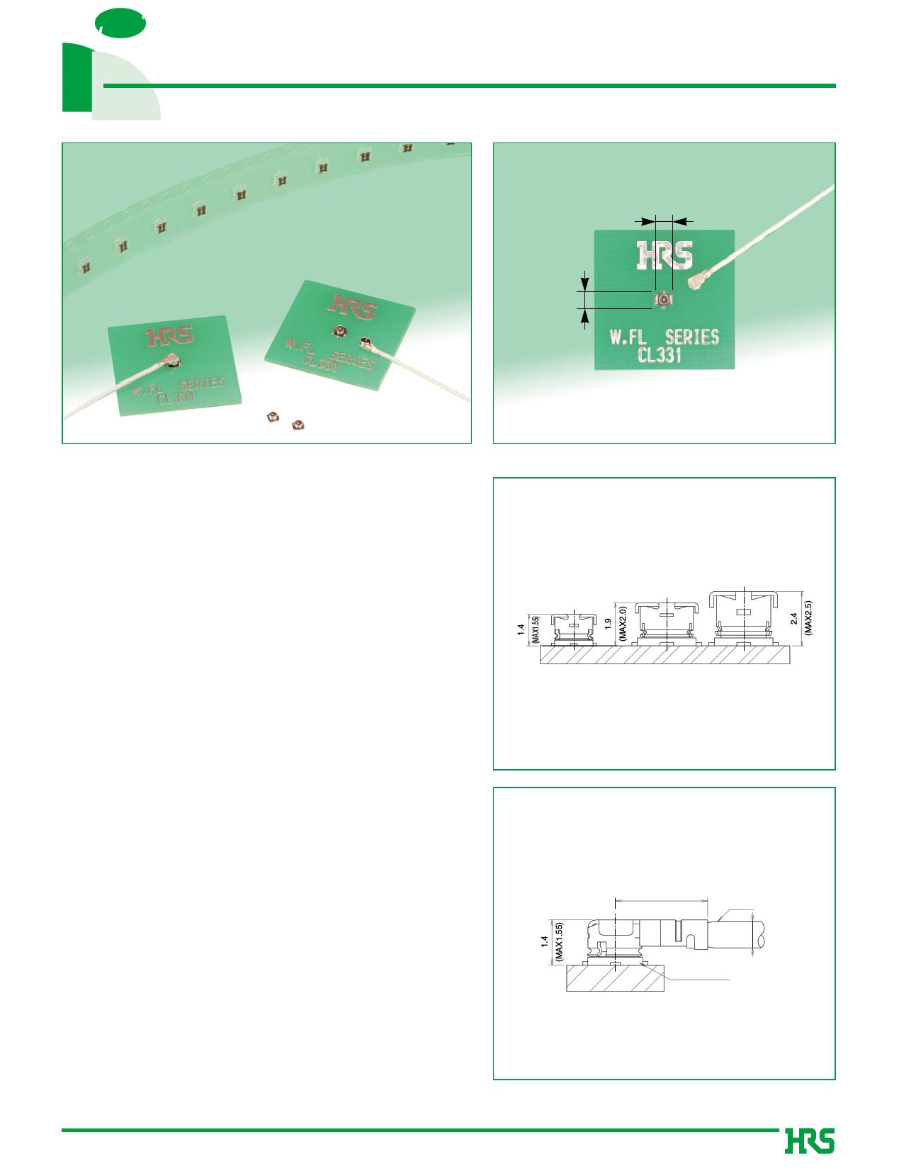W.FL-2LP-04N2-A Hoja de datos, Descripción, Manual
