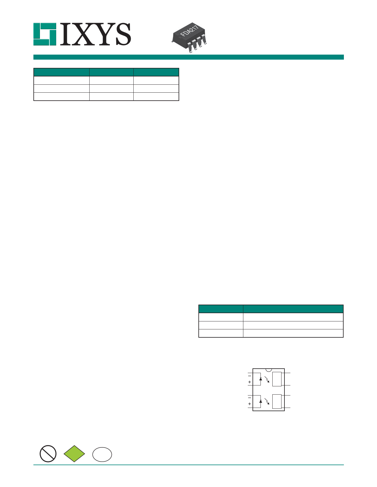 fda217 datasheet pdf   pinout