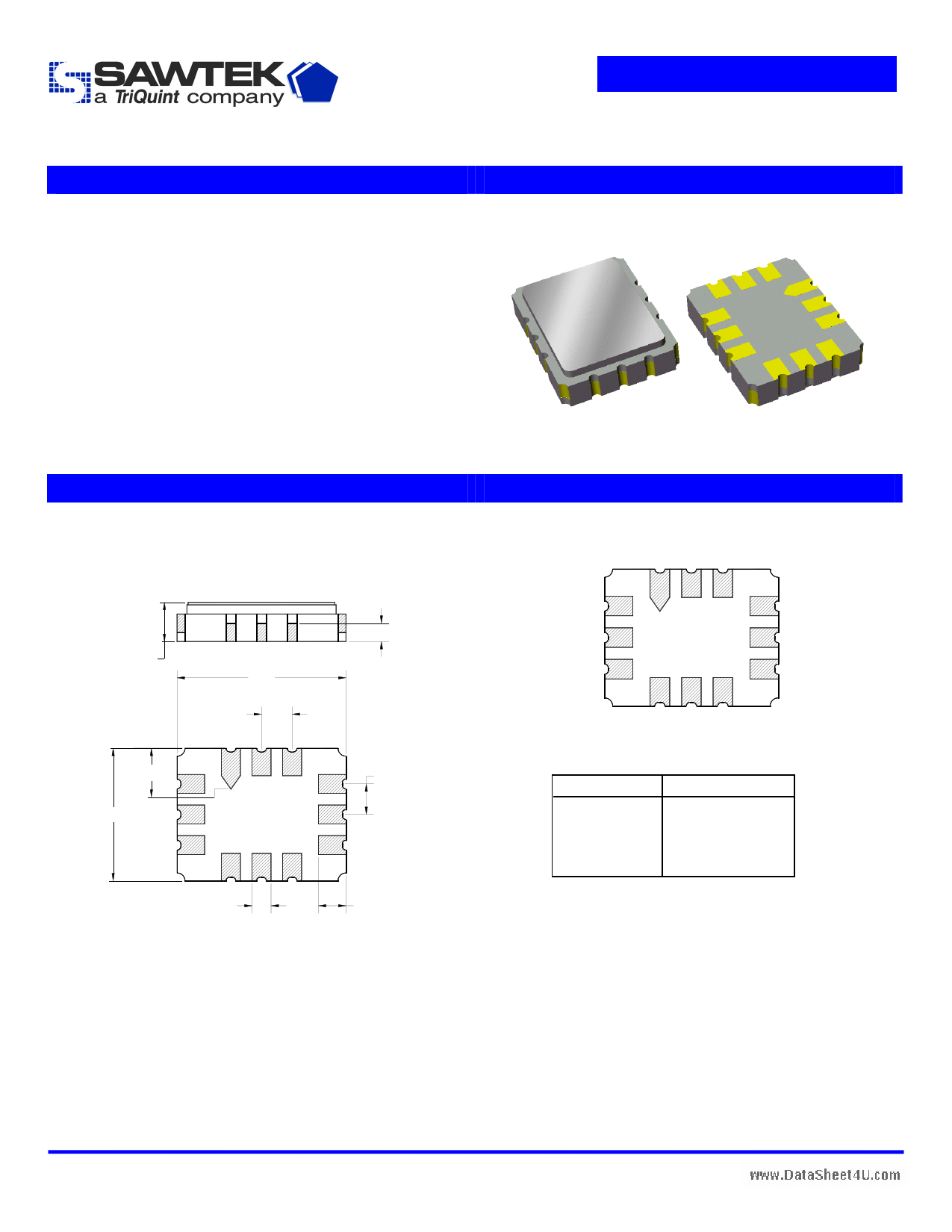 SAWTEK855914 دیتاشیت PDF
