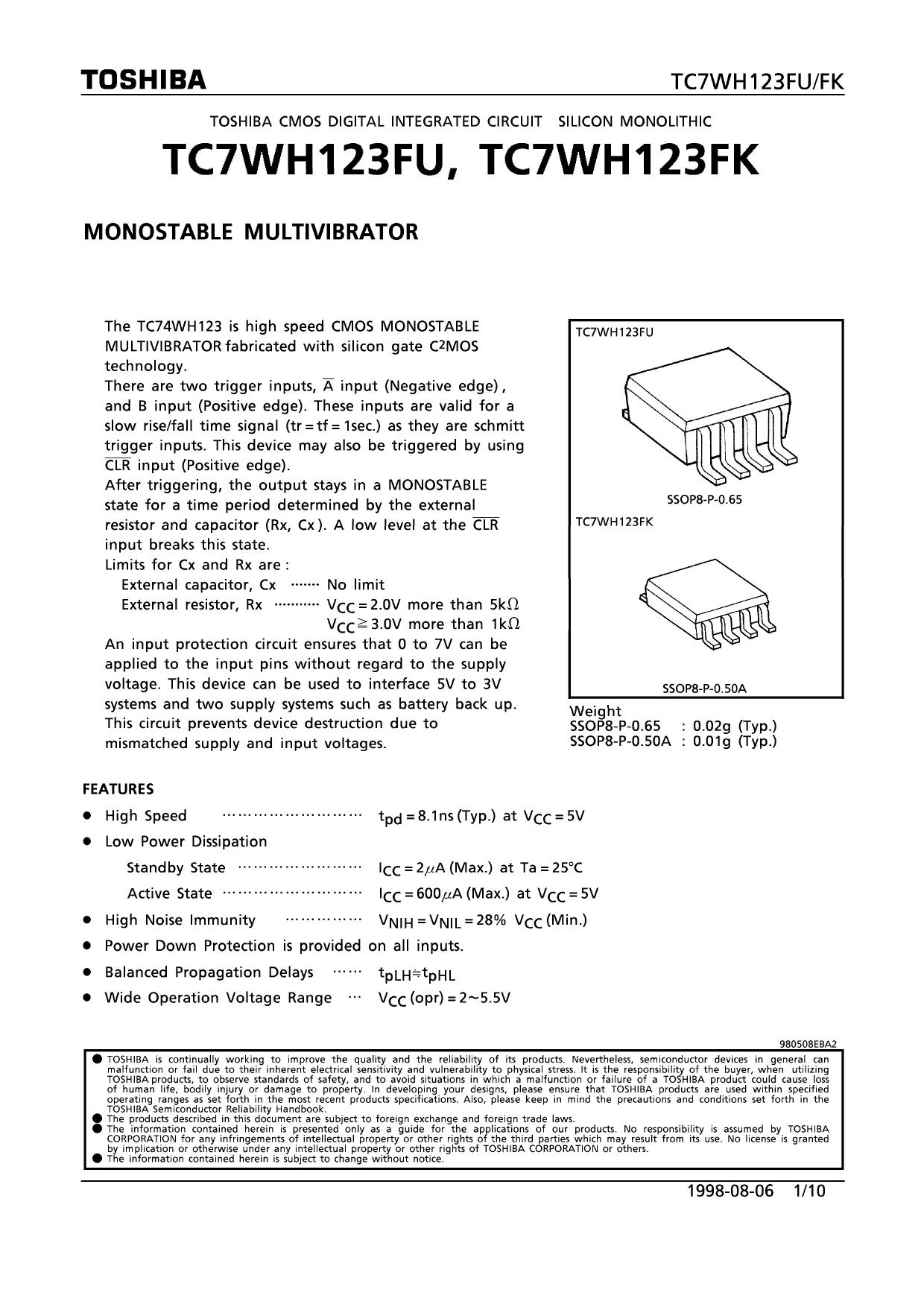 TC7WH123FU دیتاشیت PDF