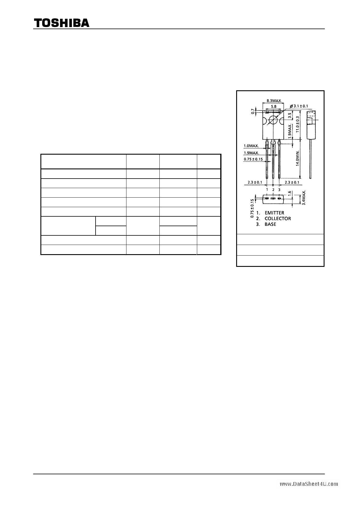 C3421 datasheet image