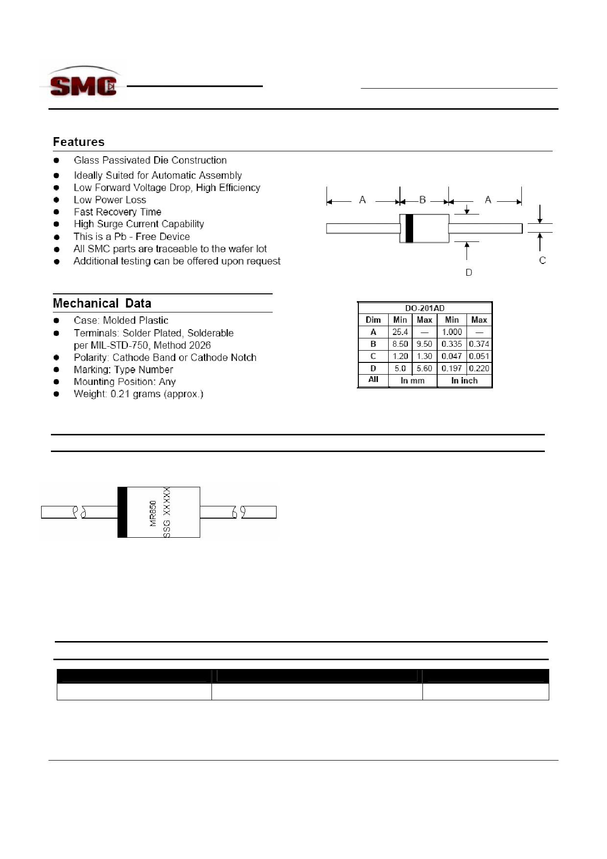 MR856 데이터시트 및 MR856 PDF