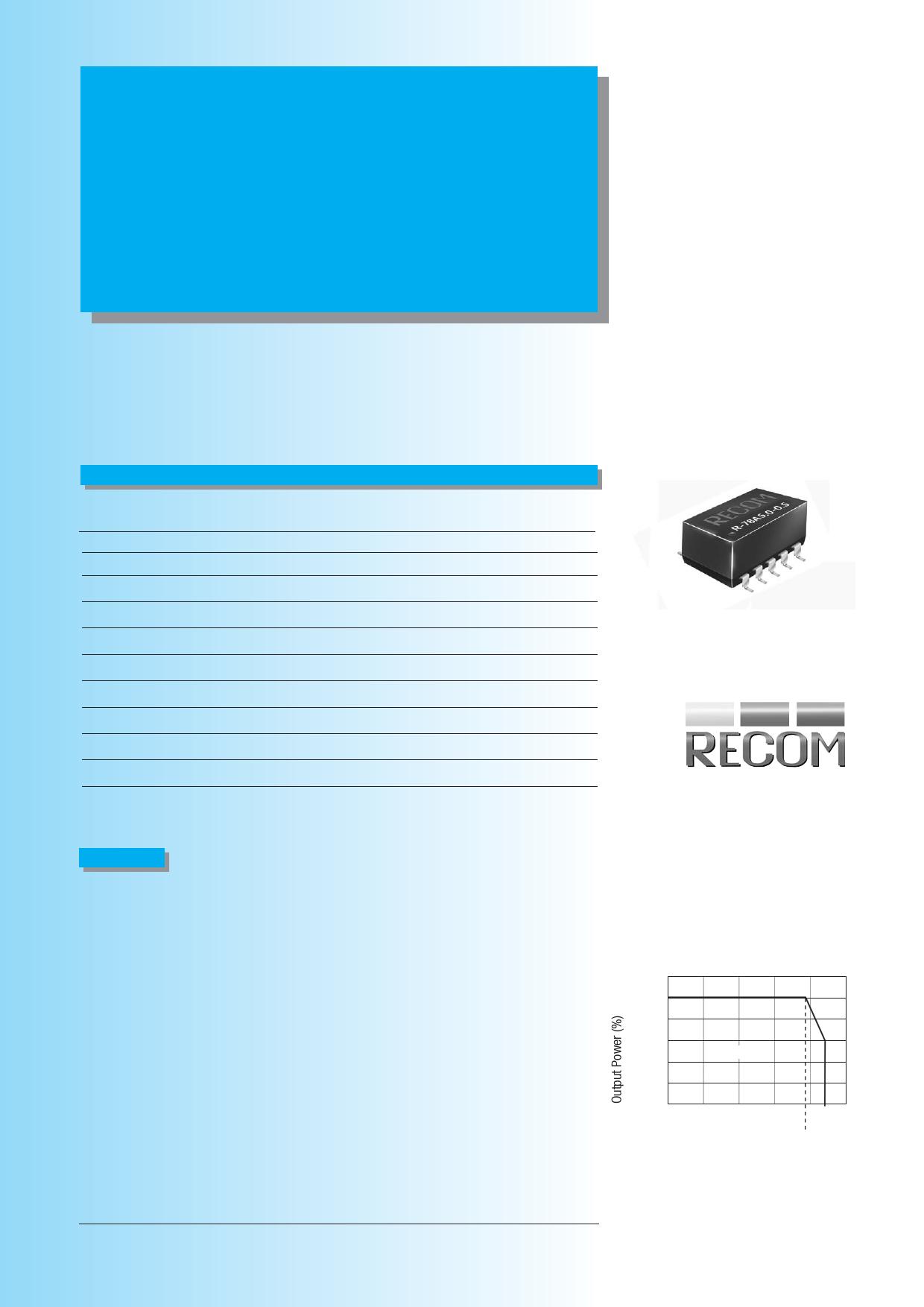 R-78Axx-0.5SMD Даташит, Описание, Даташиты