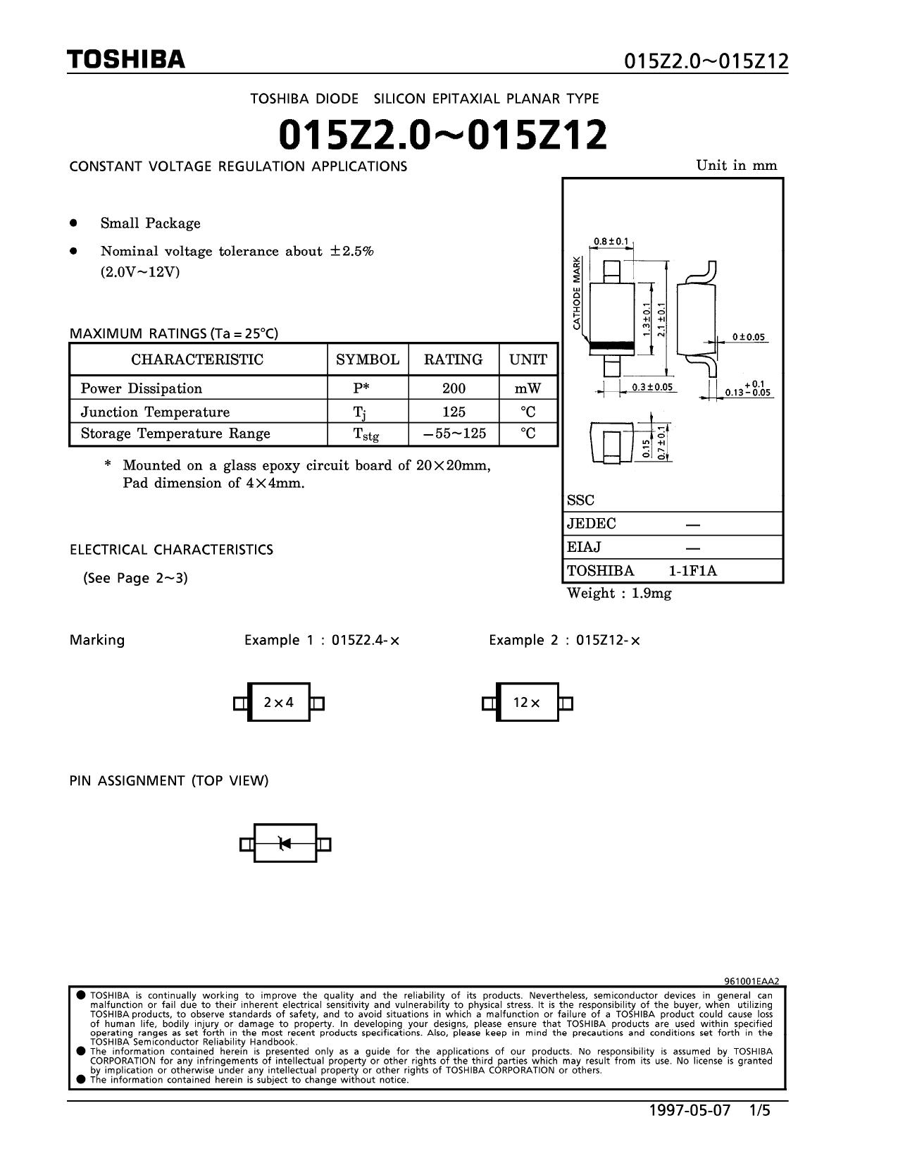 015Z3.3 datasheet