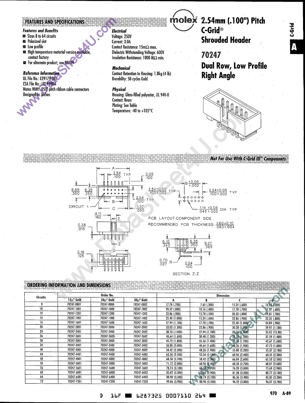 70247-1401 دیتاشیت PDF
