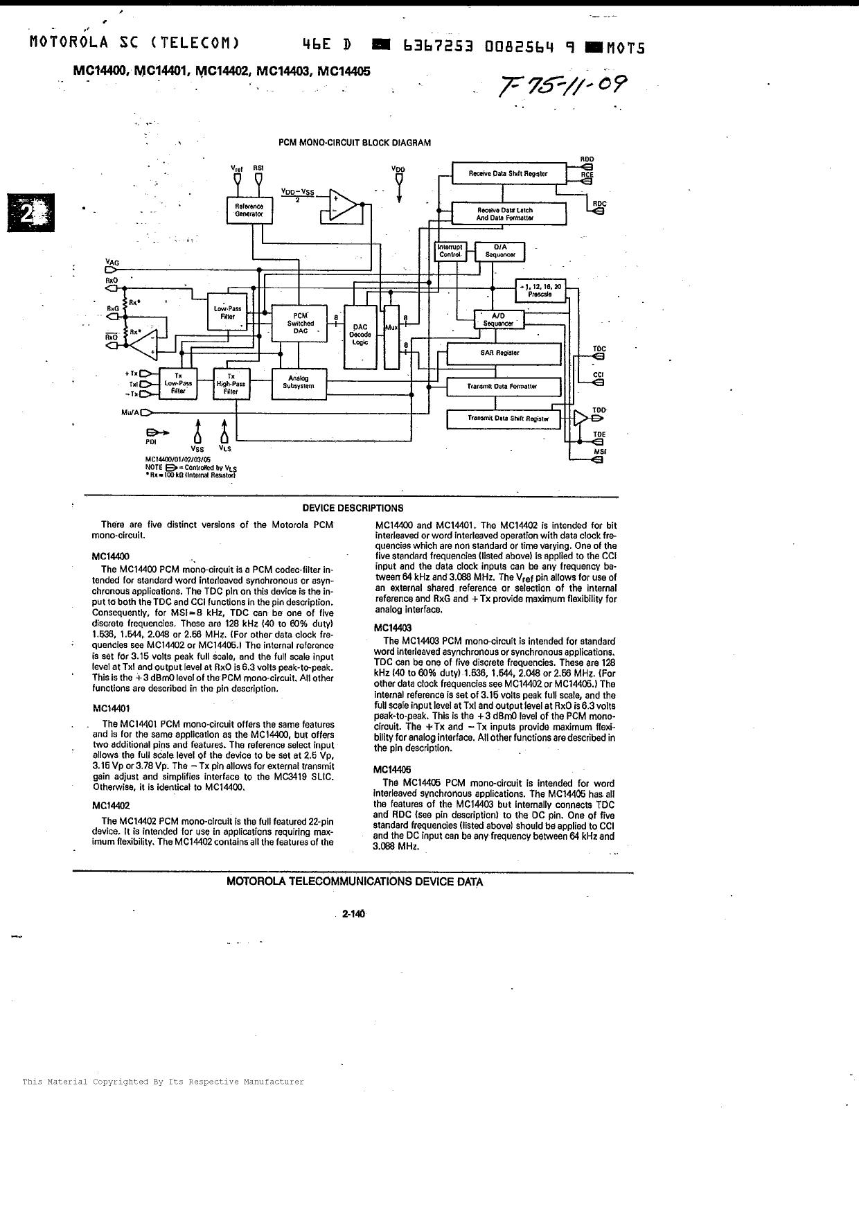 MC14401 pdf schematic