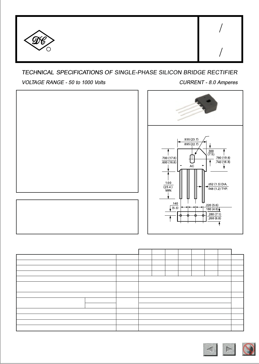 bridge type rectifier diagram kbu8d datasheet pdf ( pinout ) - technical specifications ...