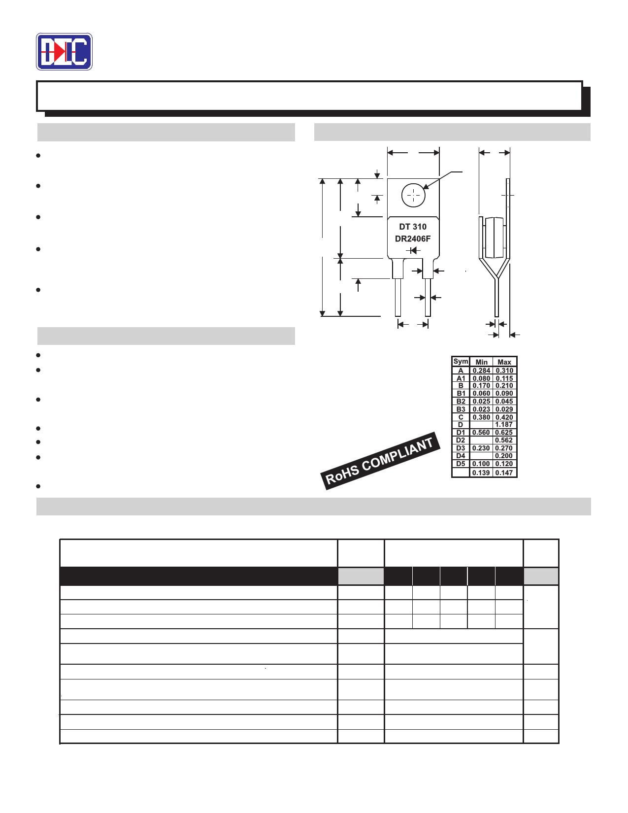 MR2402F 데이터시트 및 MR2402F PDF