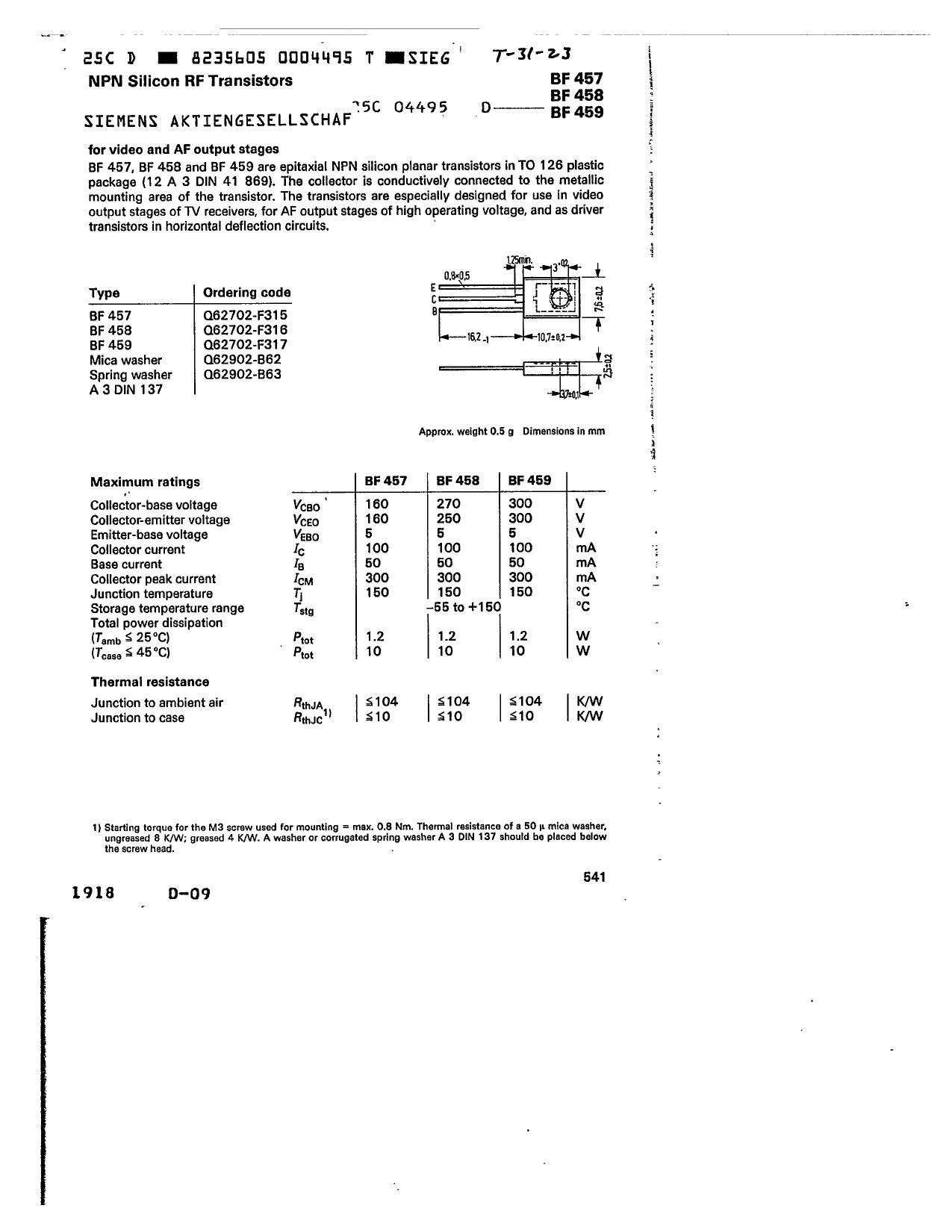 BF458 دیتاشیت PDF