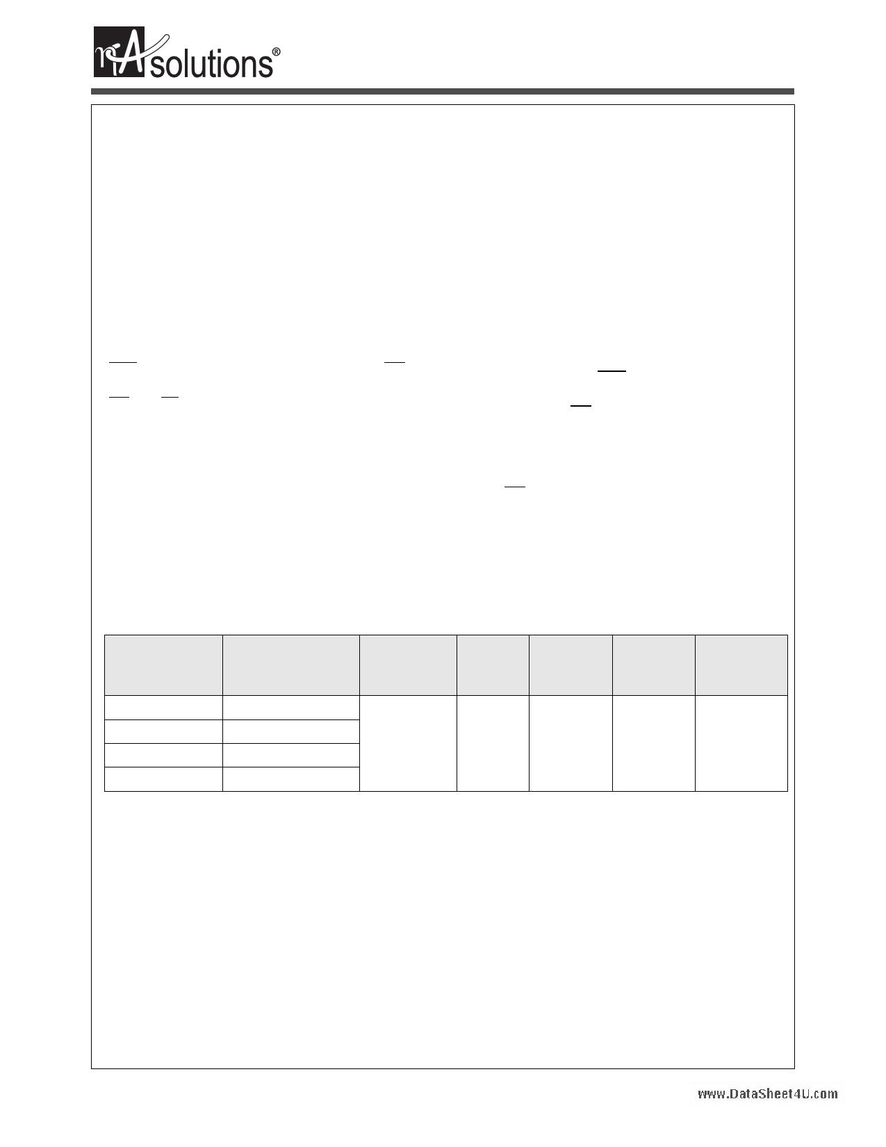 N02L163WC2A datasheet