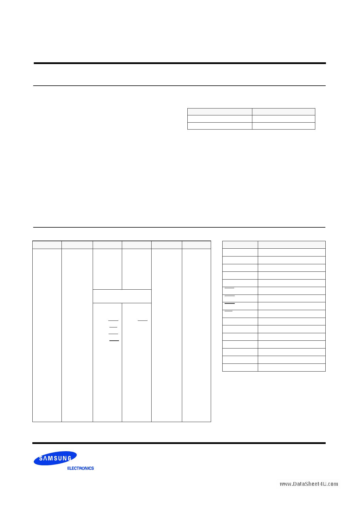 KMM464S924T1 دیتاشیت PDF