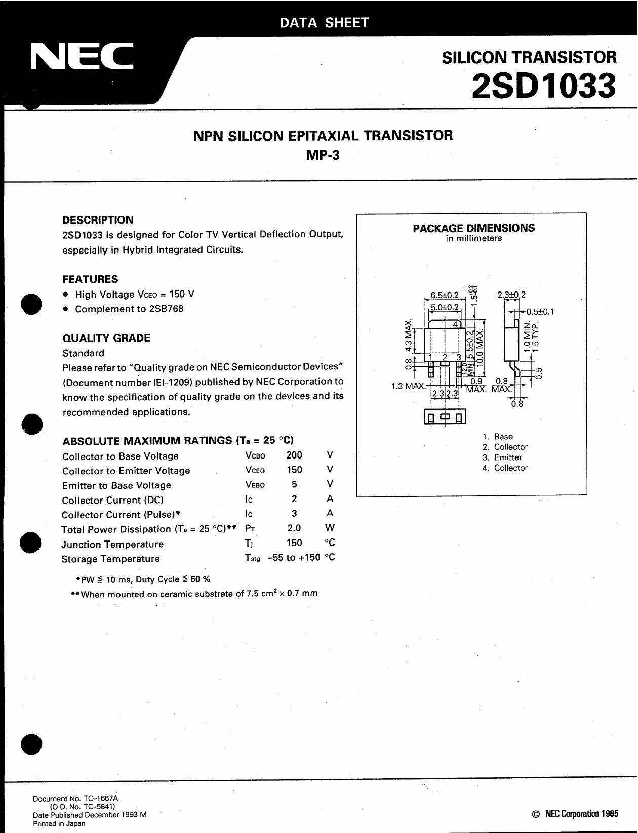 D1033 datasheet