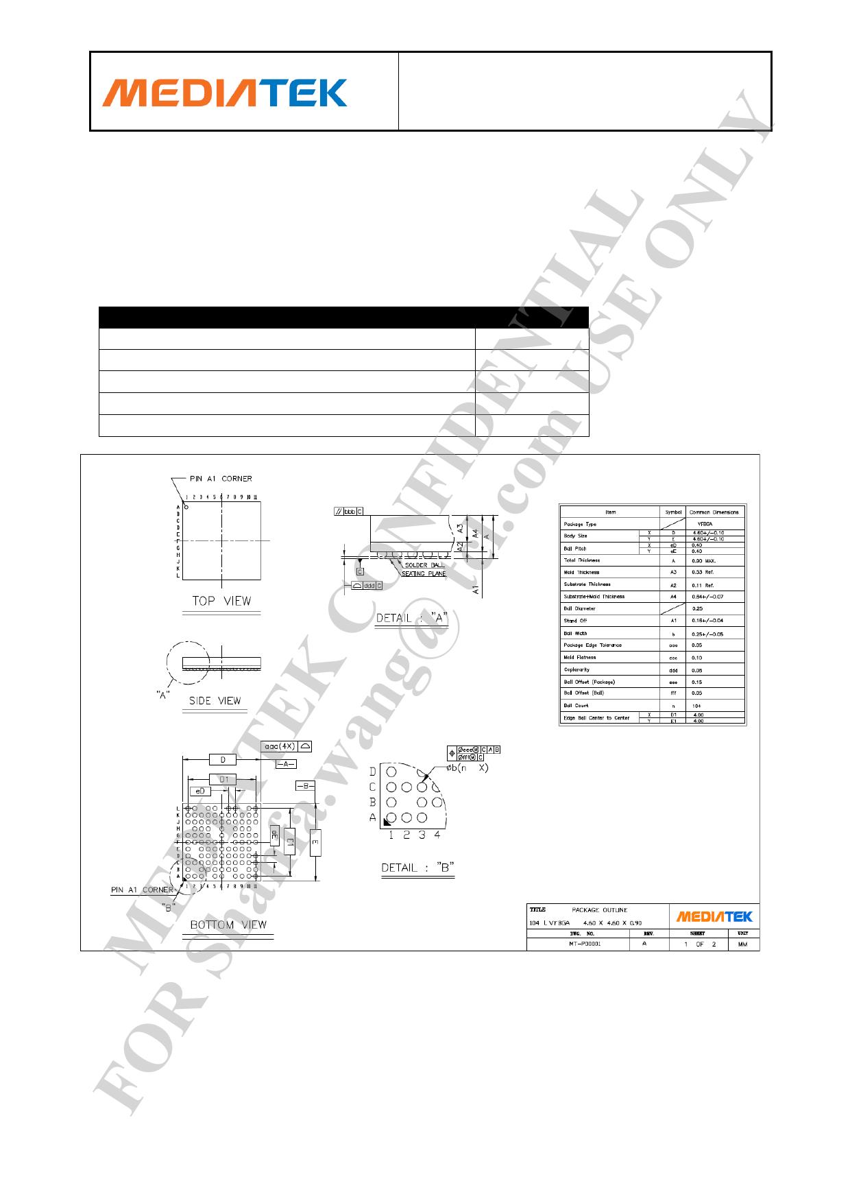 MT6166 pdf
