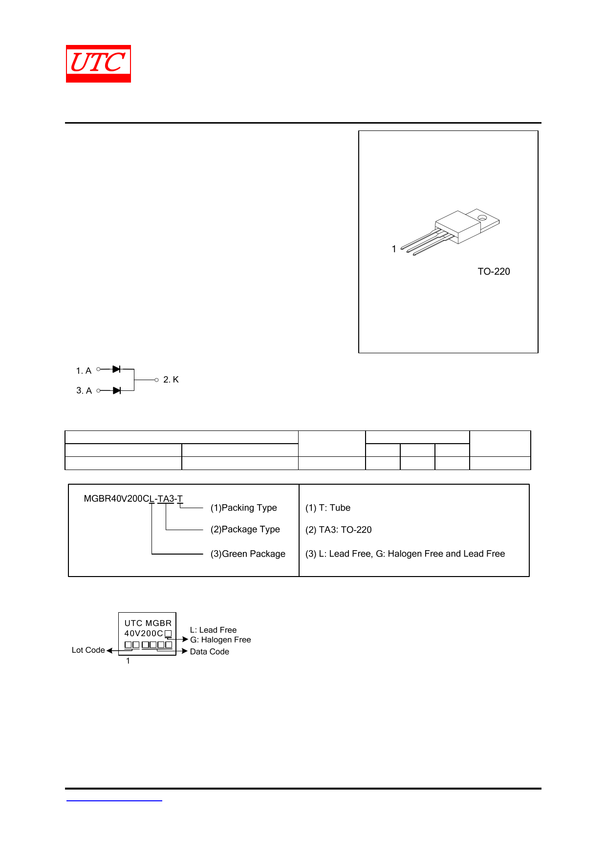 MGBR40V200C Datasheet, MGBR40V200C PDF,ピン配置, 機能