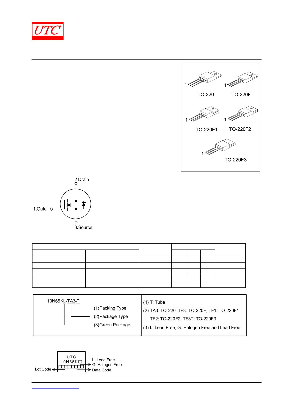 10N65K-MT datasheet