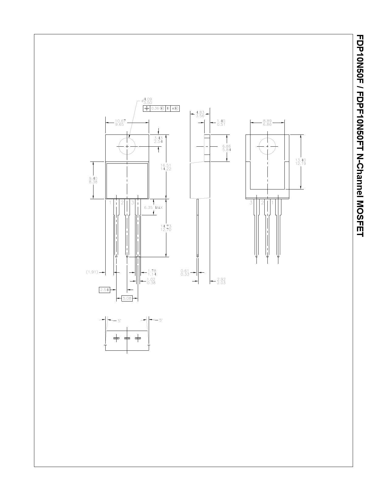 FDPF10N50FT 전자부품, 판매, 대치품