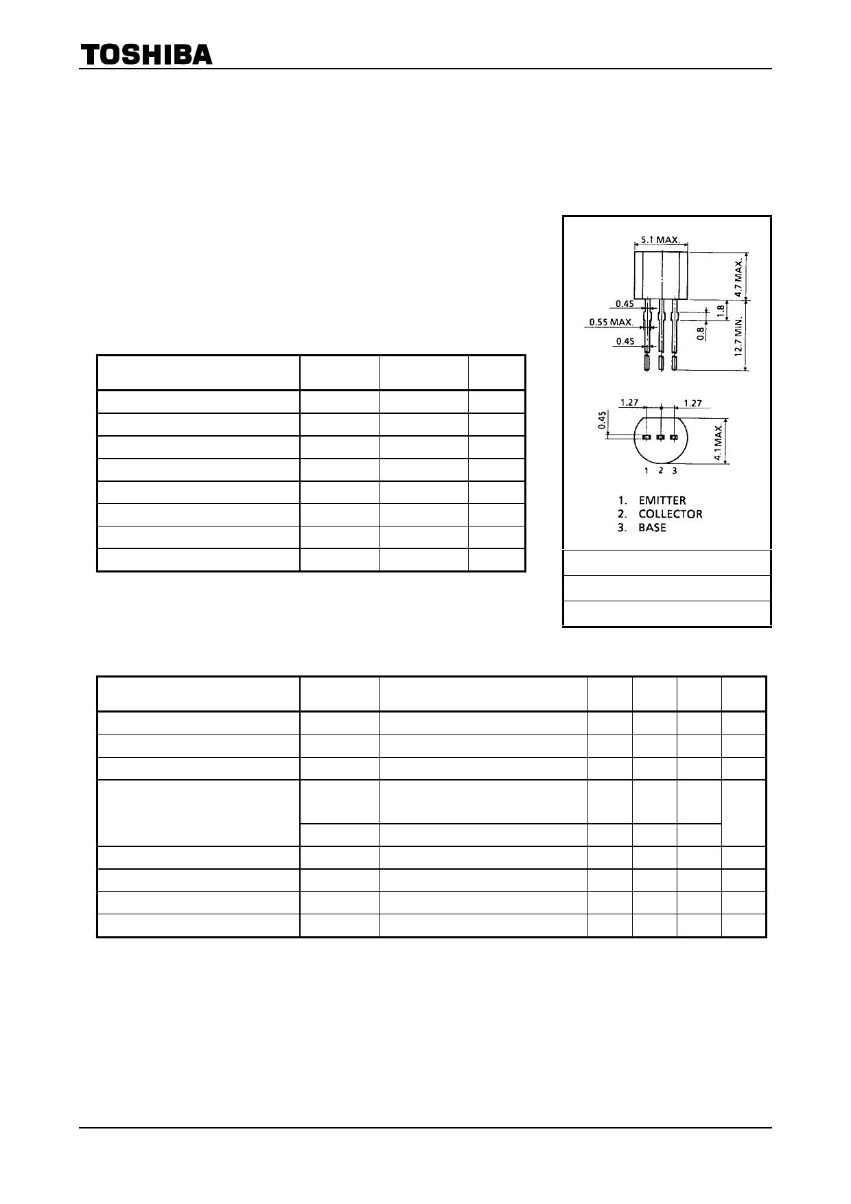 2SC1627 datasheet