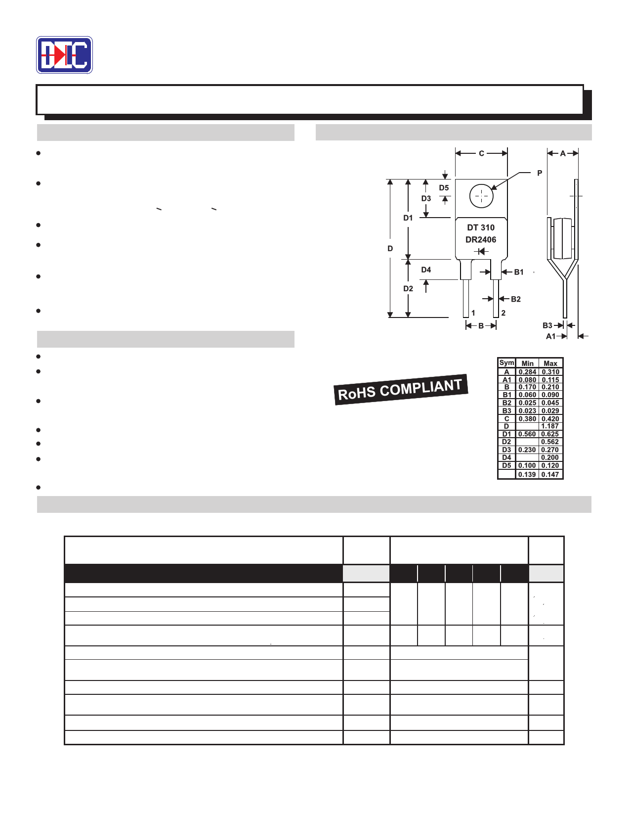 MR2406 데이터시트 및 MR2406 PDF