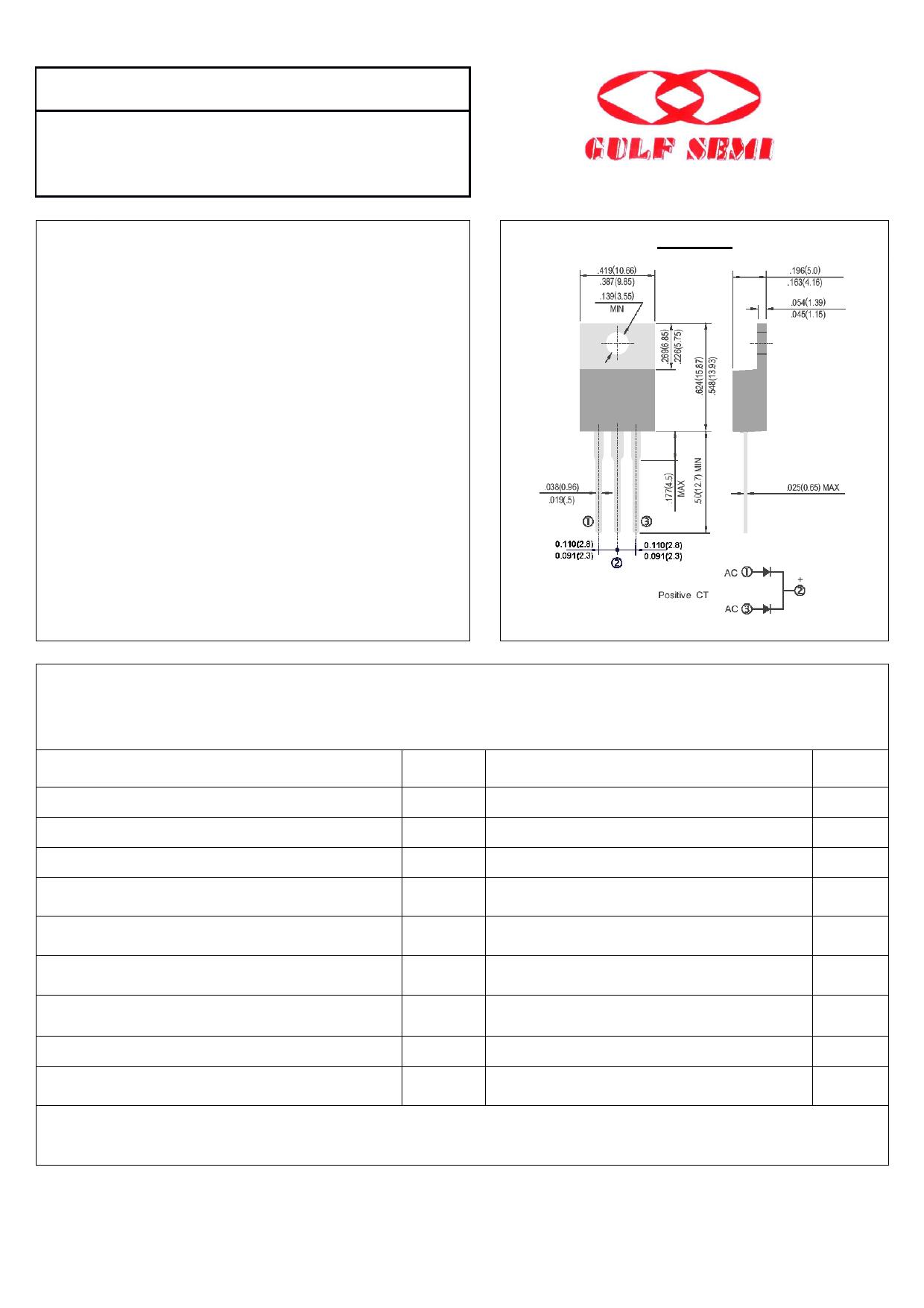 SB2045CT datasheet, circuit