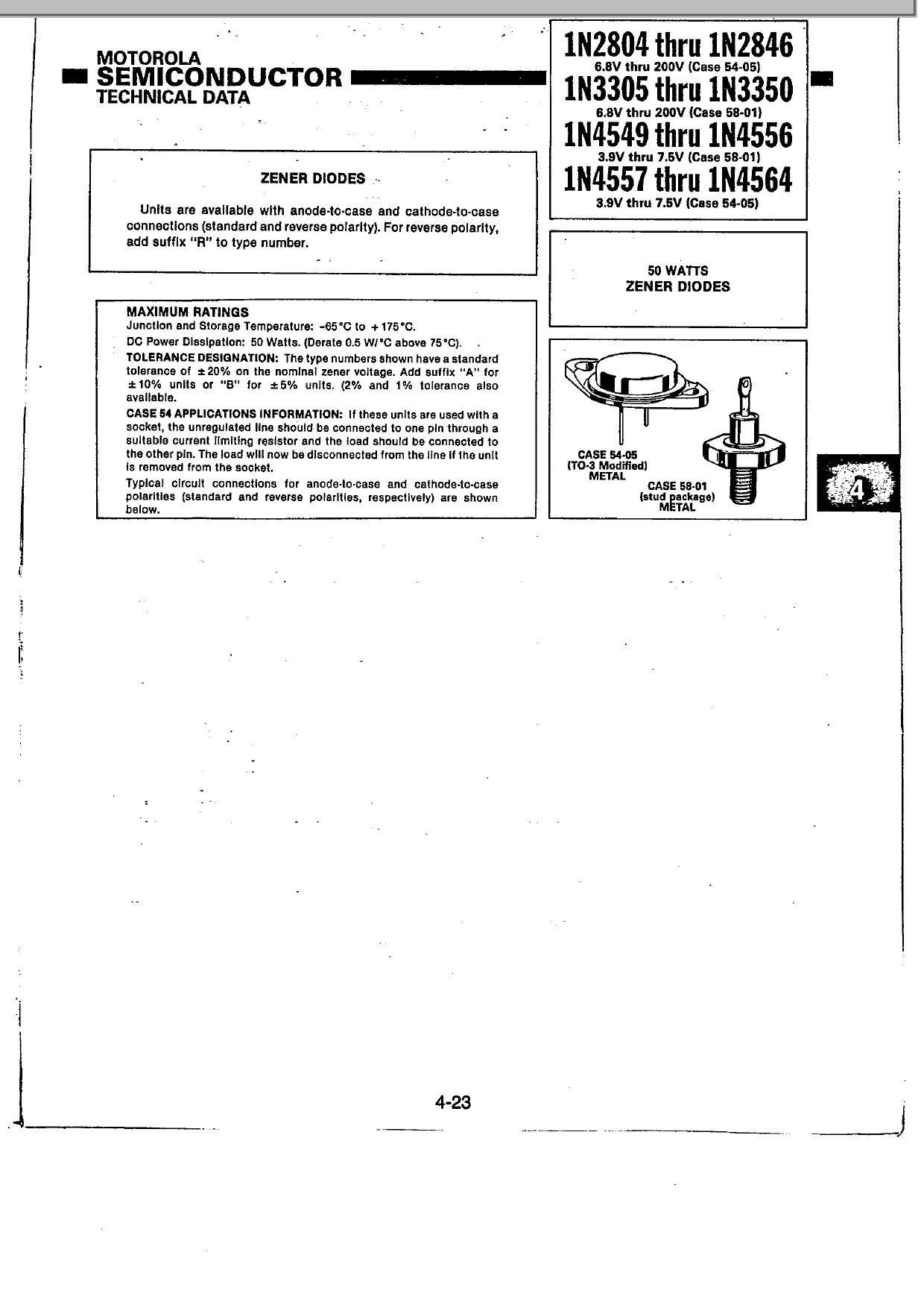 1N2830 دیتاشیت PDF