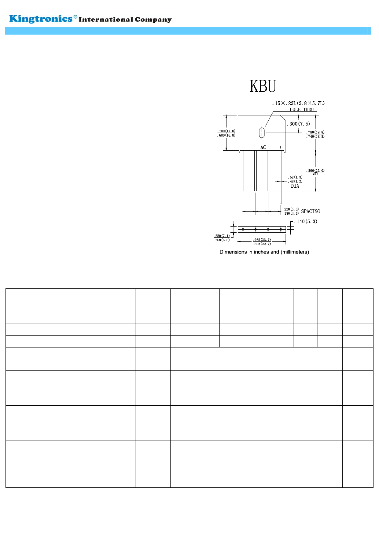 KBU6005 datasheet