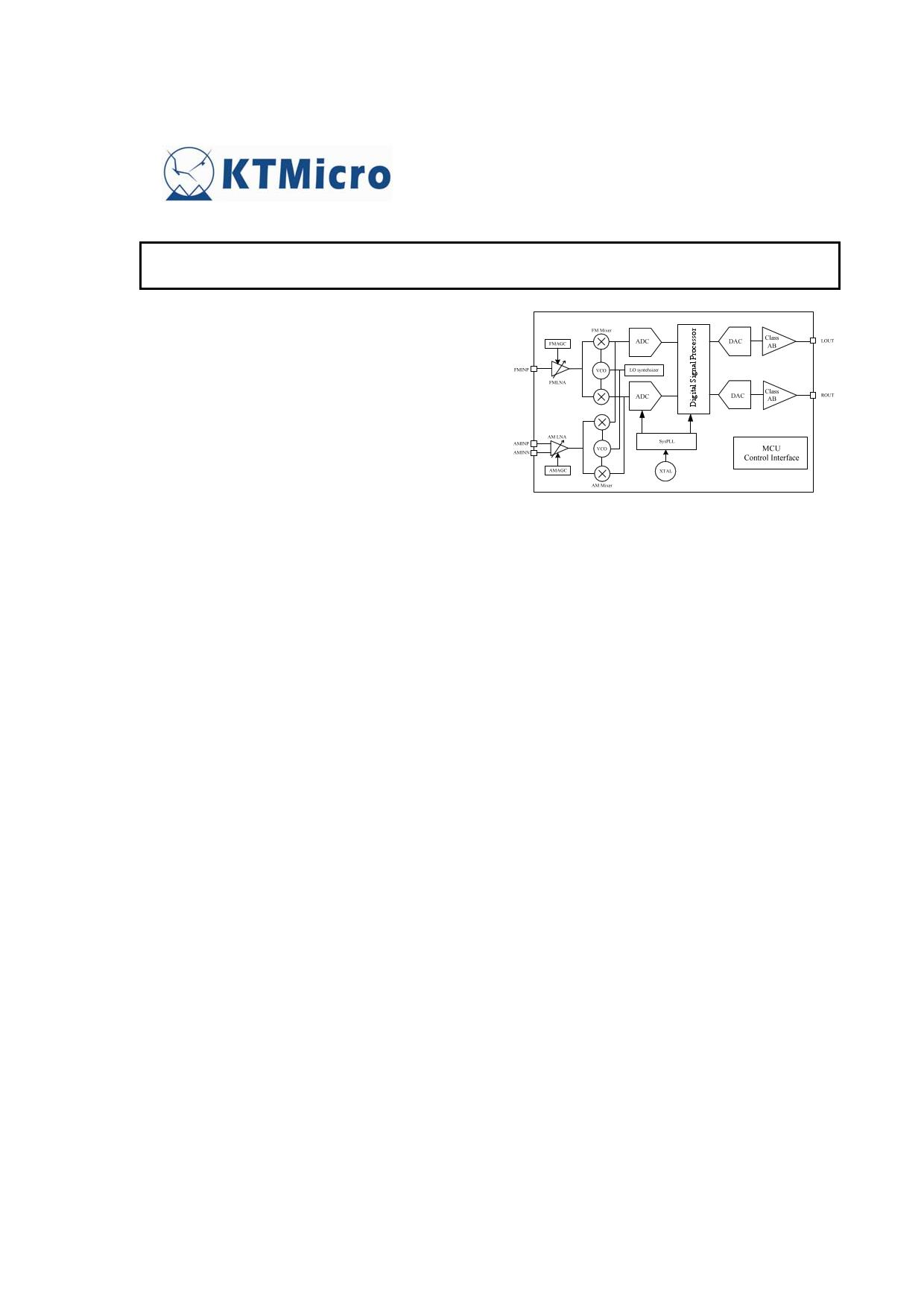 KT0922 دیتاشیت PDF