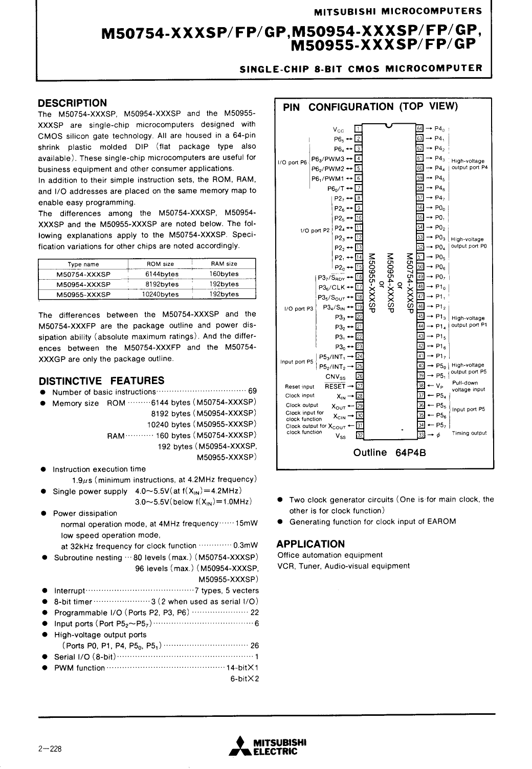M50754-XXX دیتاشیت PDF