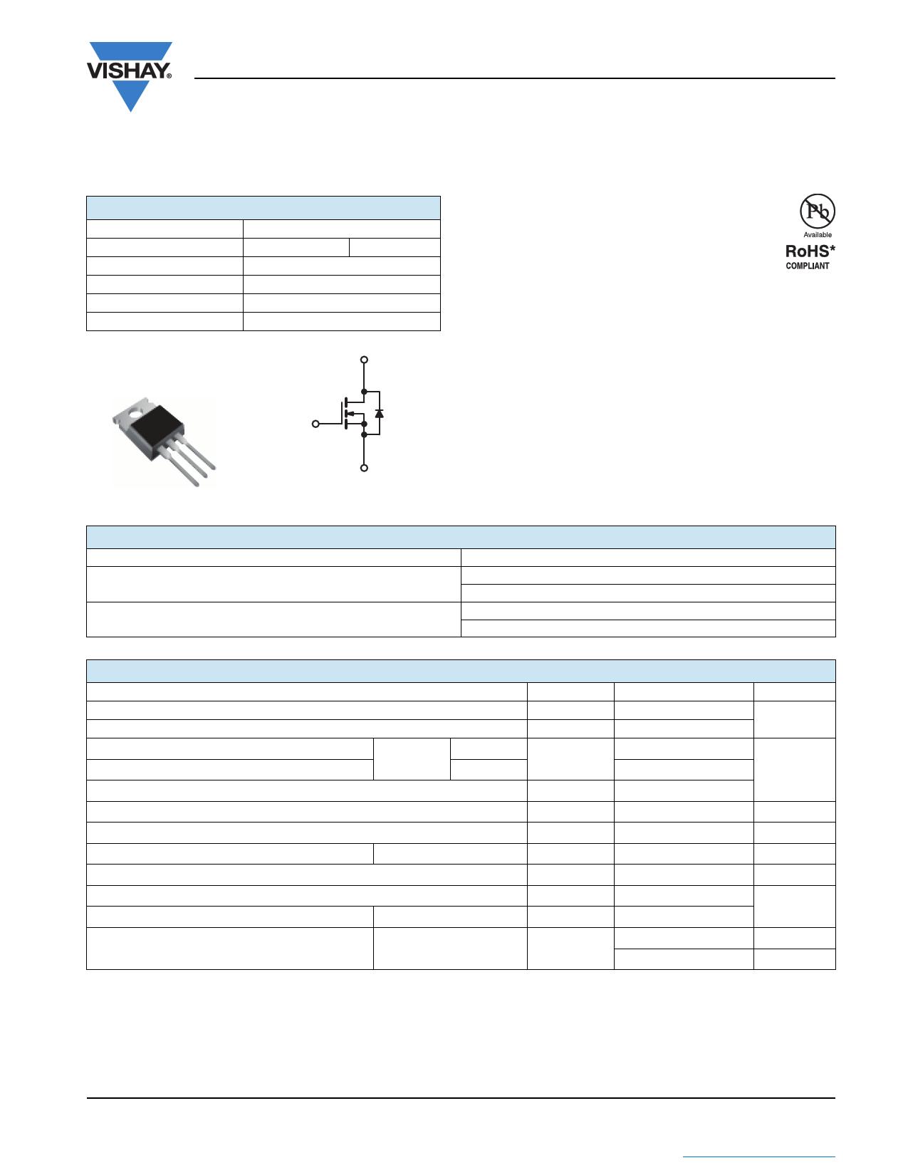 SIHFZ40 datasheet