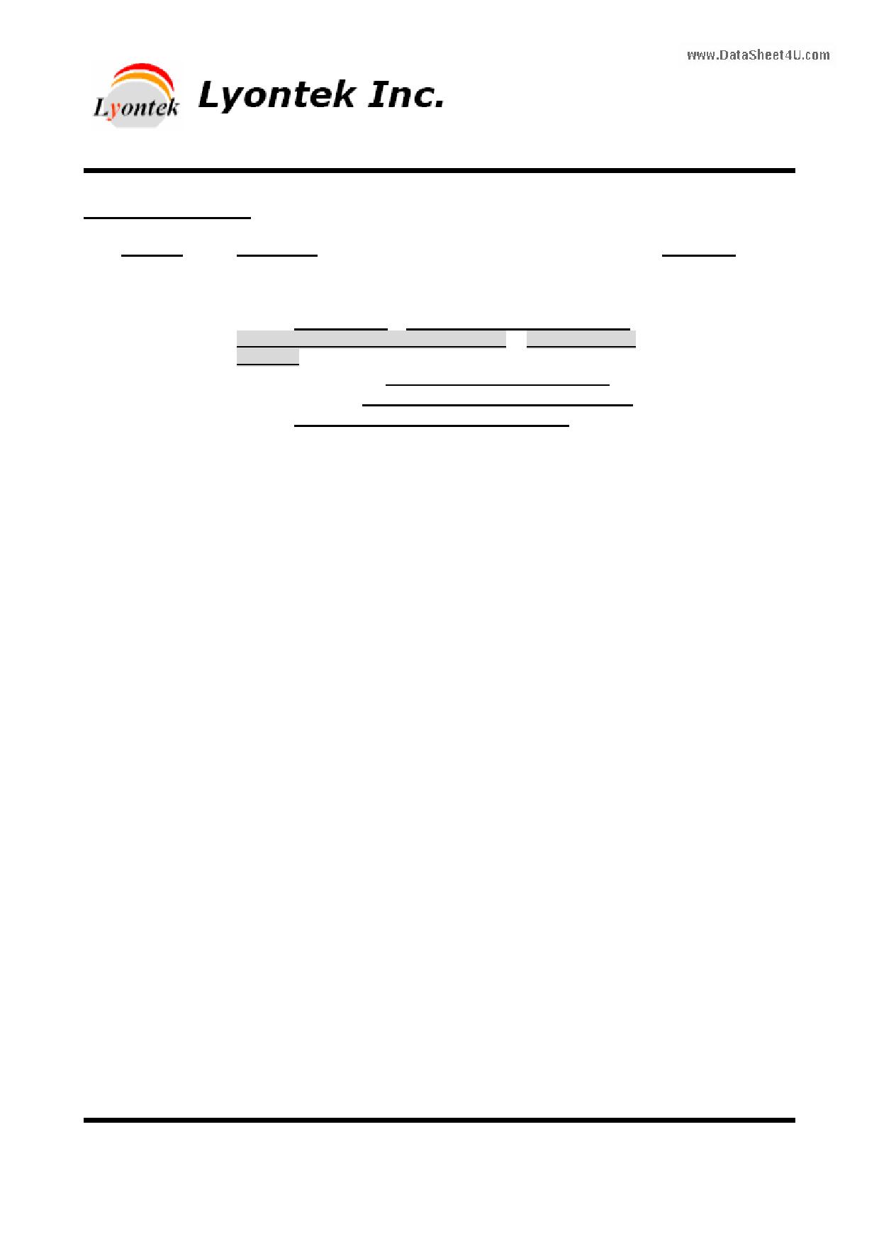 LY612568 دیتاشیت PDF