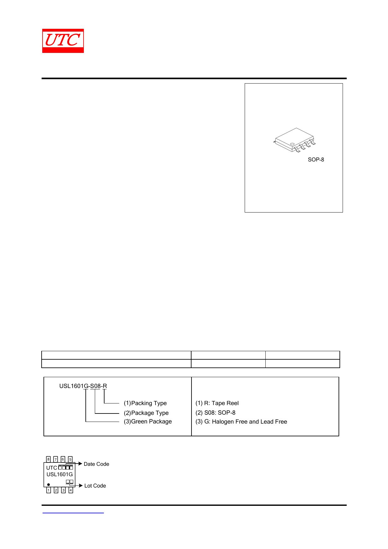 USL1601 datasheet