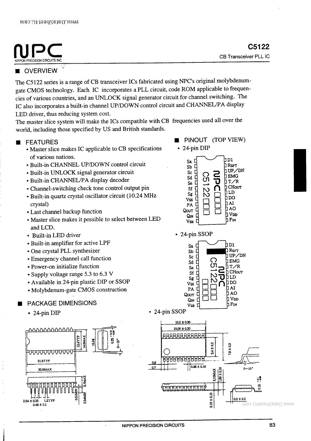 C5122 Datasheet, C5122 PDF,ピン配置, 機能