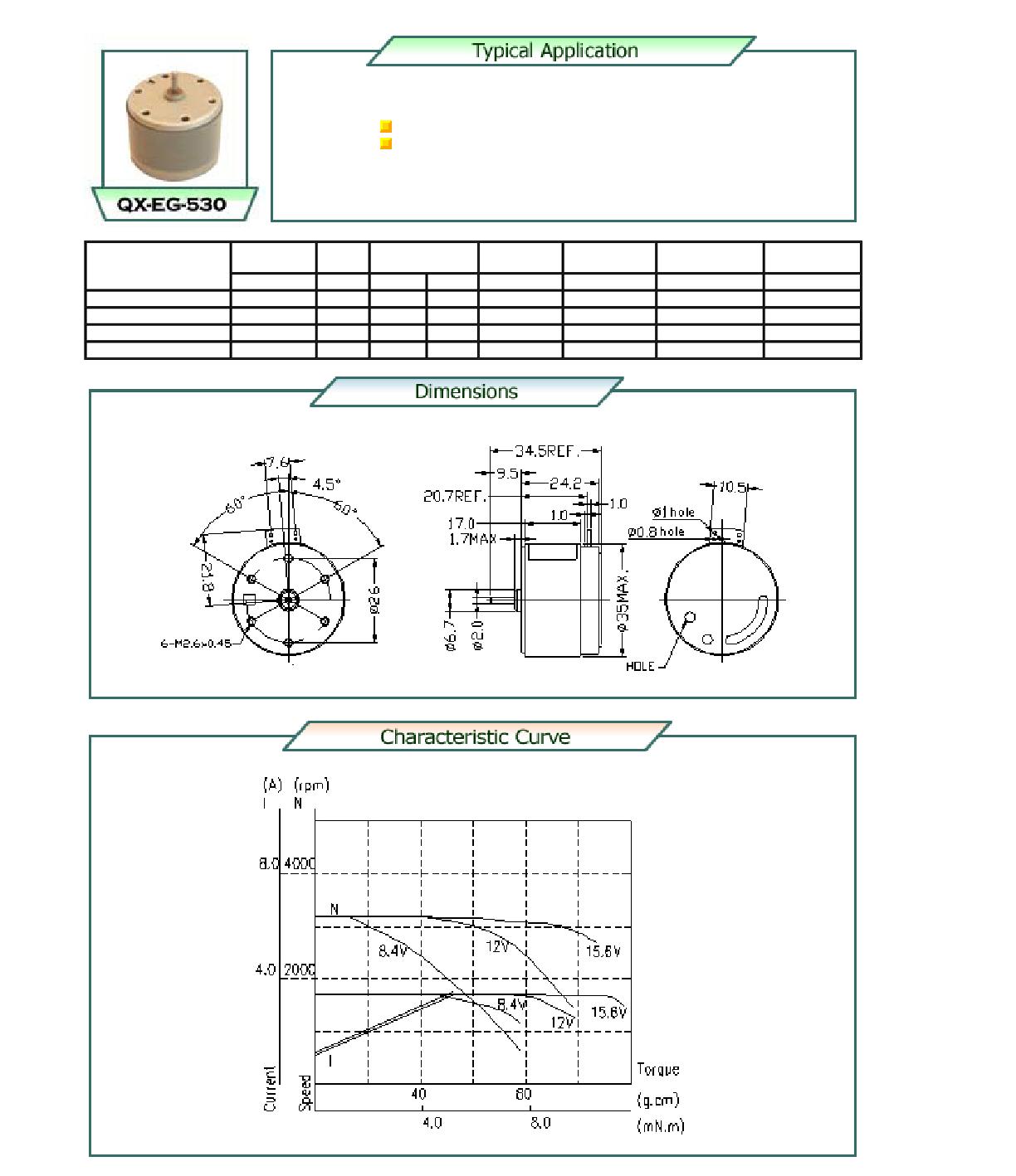 QX-EG-530 Datenblatt PDF
