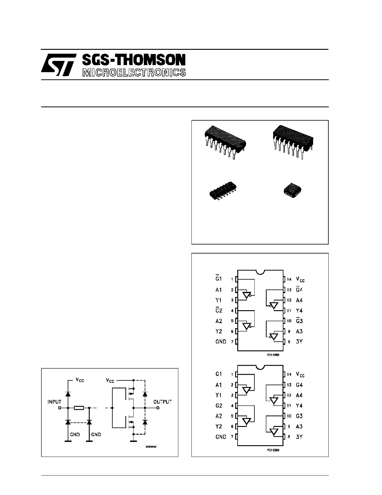 M54HC125B1R دیتاشیت PDF