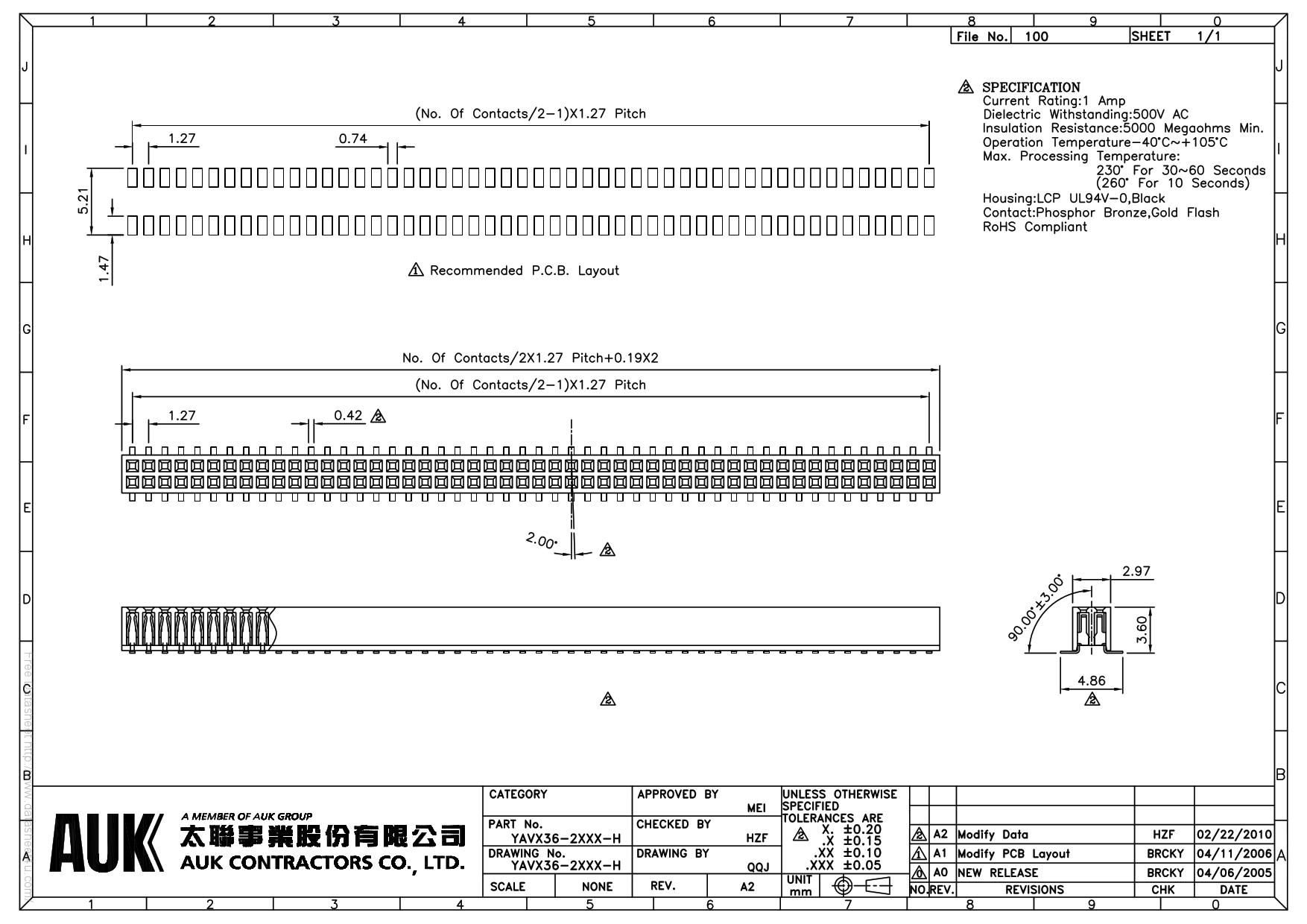 YAVX36-2XXX-H دیتاشیت PDF