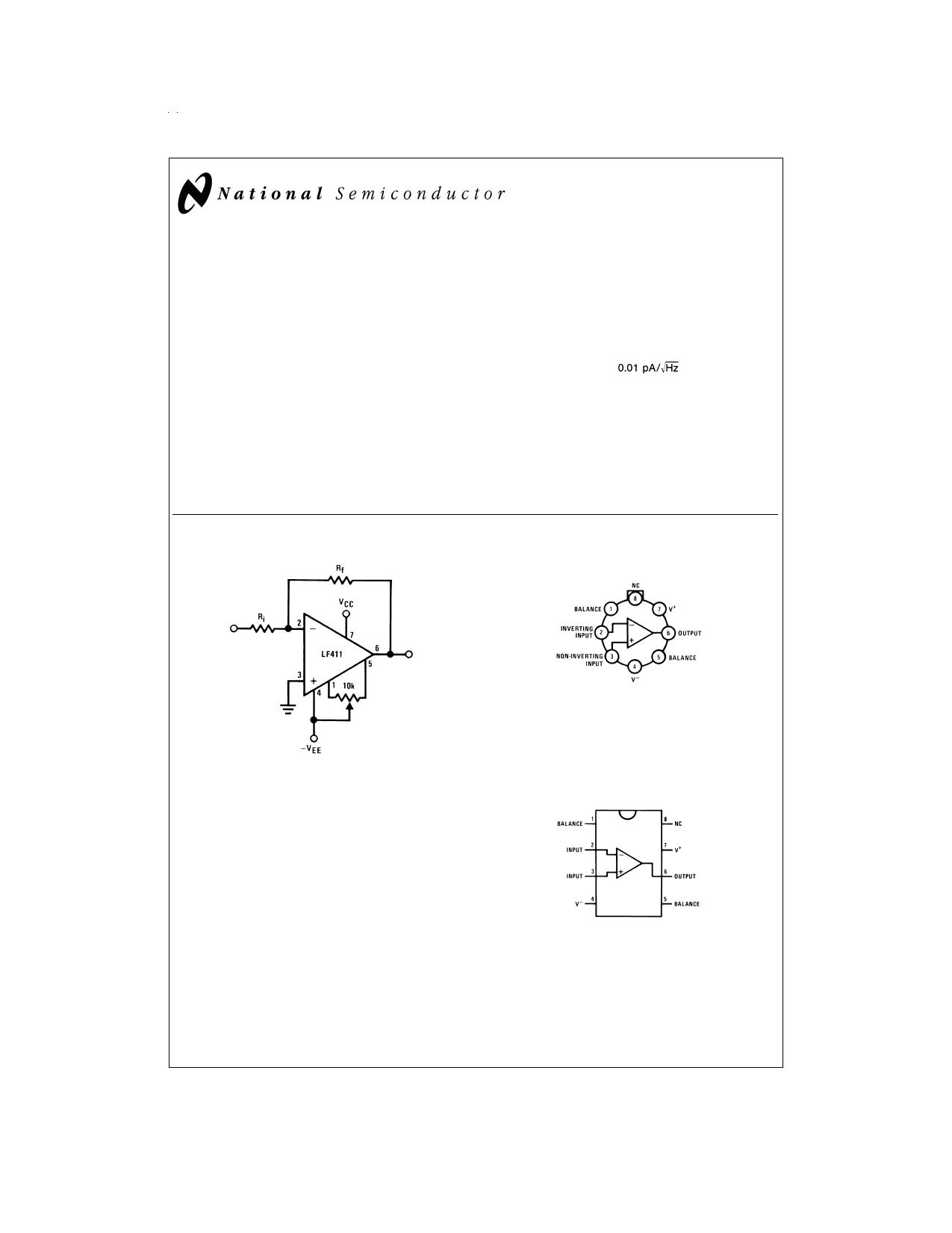 LF411 دیتاشیت PDF