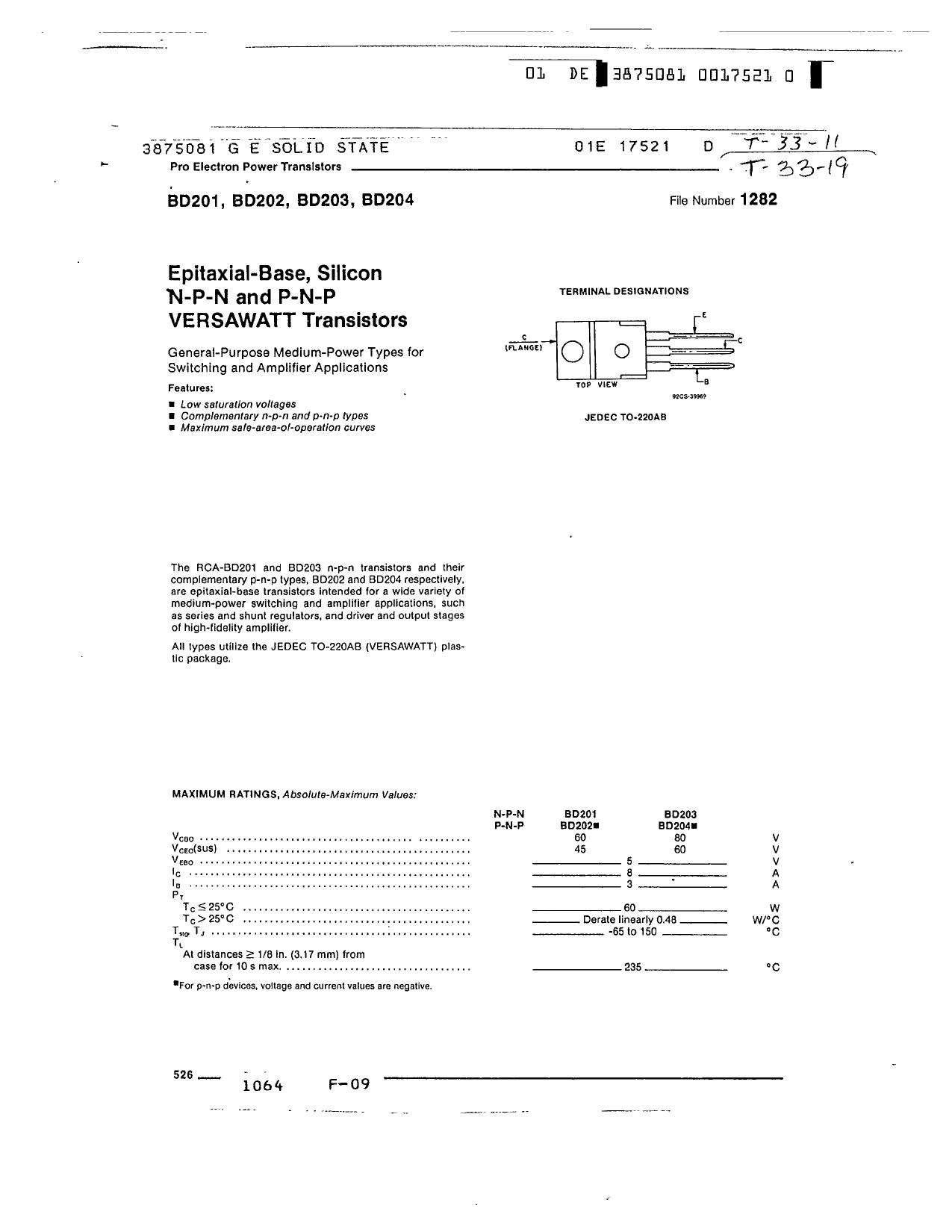 BD201 Datasheet, BD201 PDF,ピン配置, 機能
