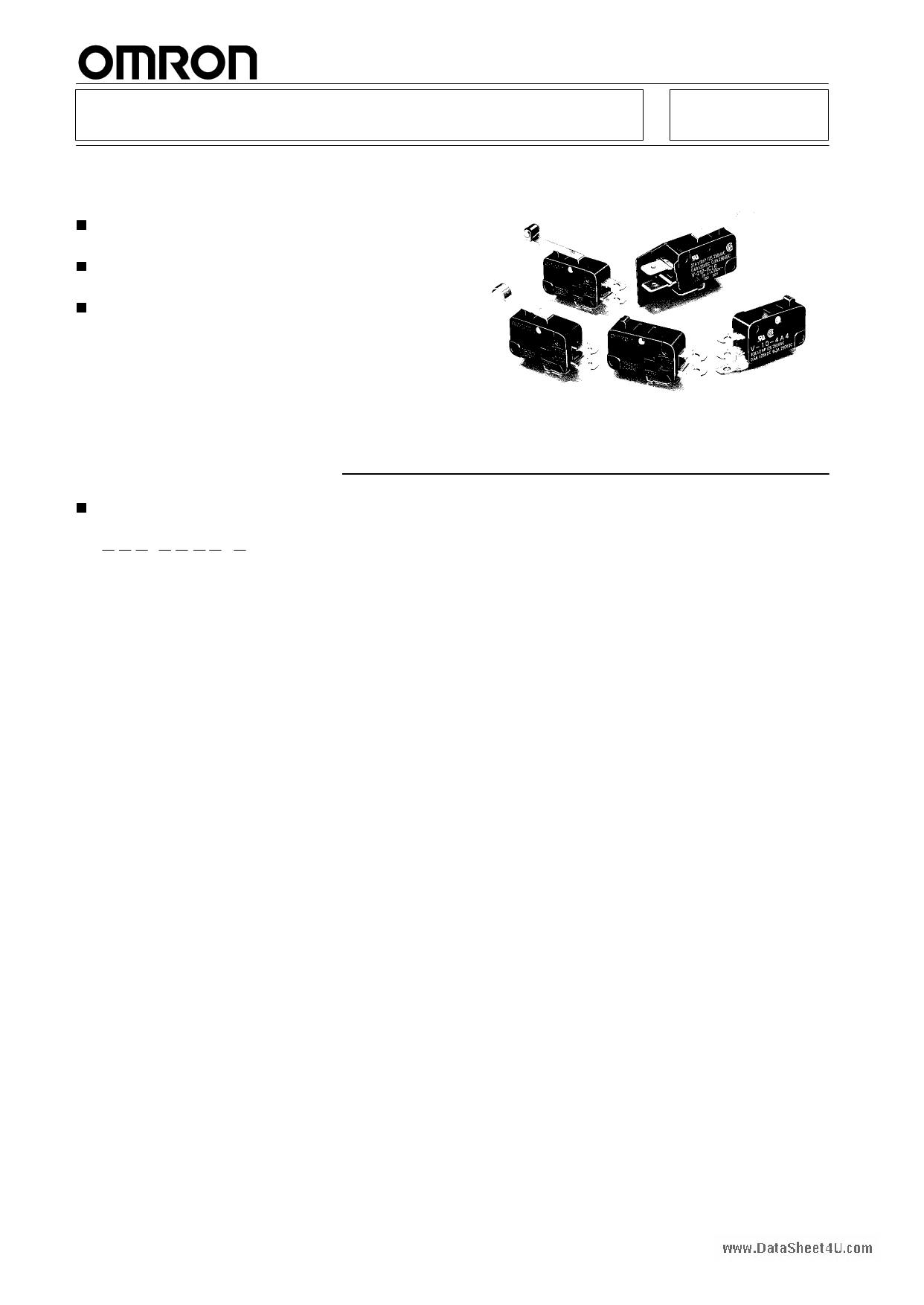 V-111-xxx Hoja de datos, Descripción, Manual