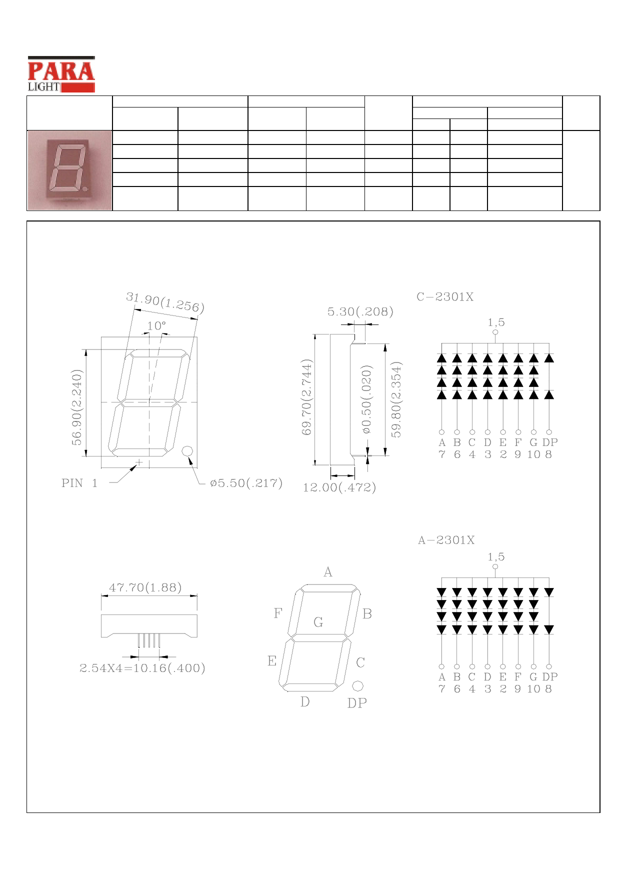C-2301E دیتاشیت PDF