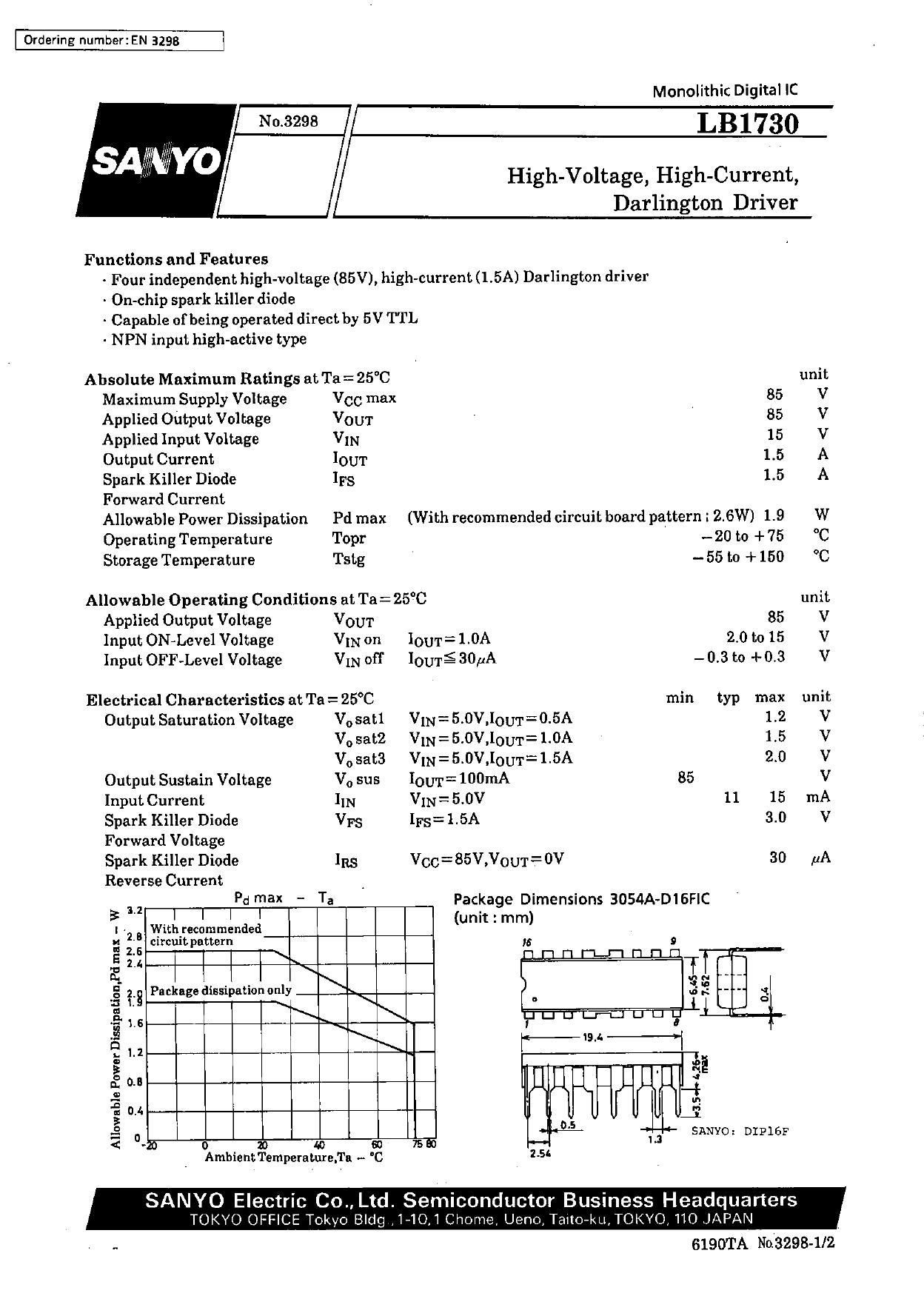 LB1730 datasheet