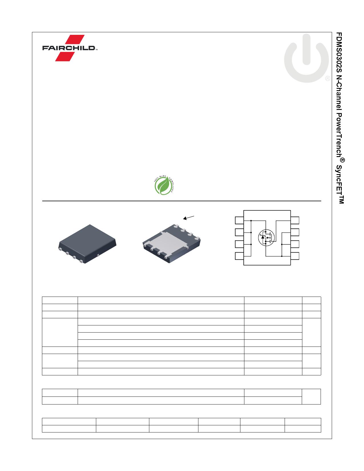 FDMS0302S 데이터시트 및 FDMS0302S PDF