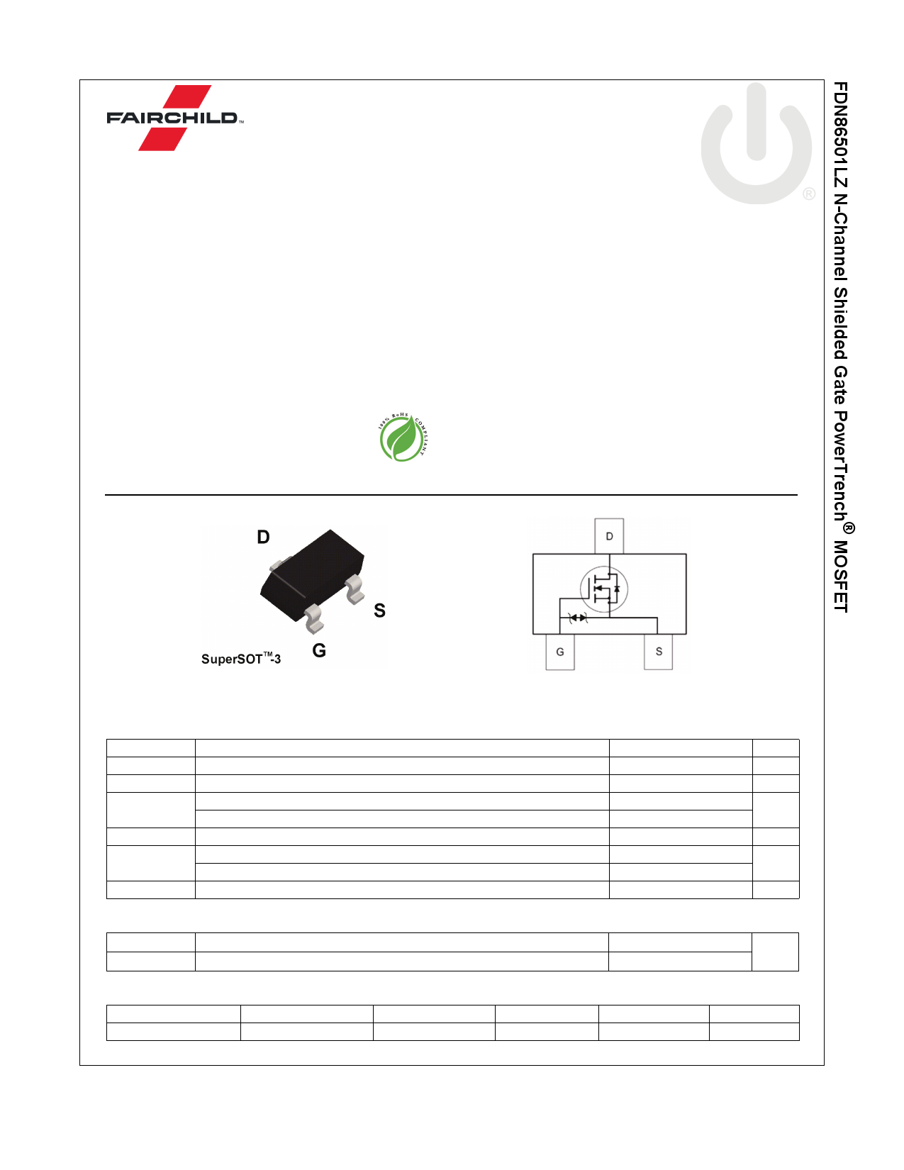 FDN86501LZ 데이터시트 및 FDN86501LZ PDF