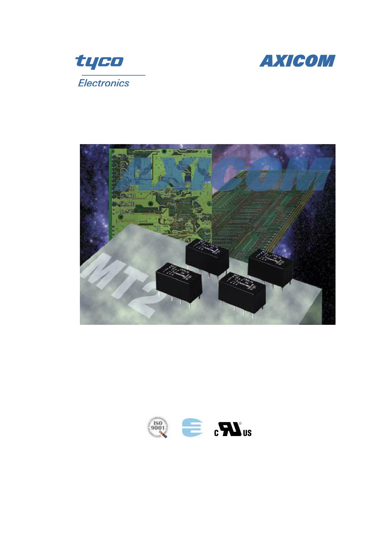 5-1462000-0 Hoja de datos, Descripción, Manual