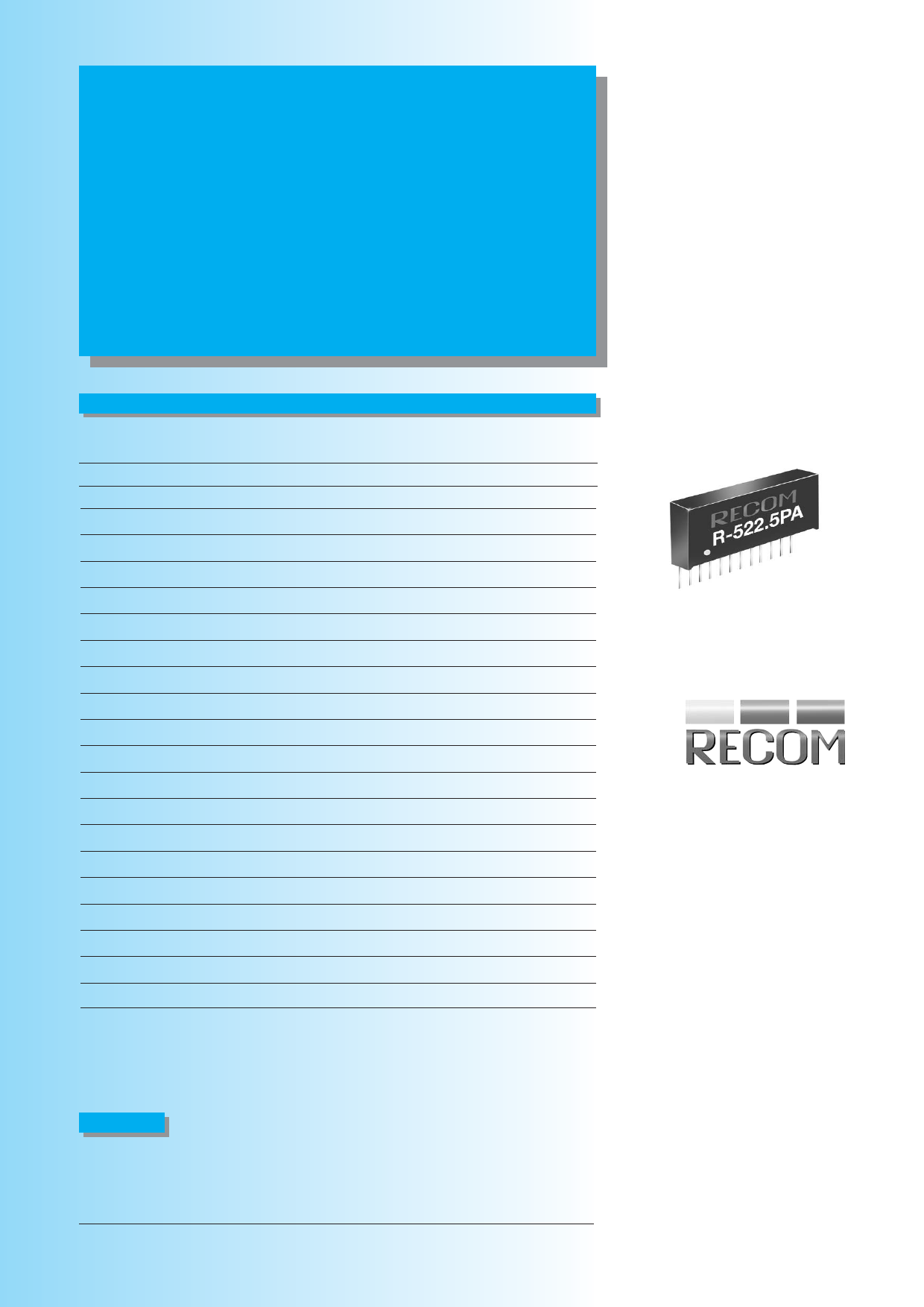 R-5xxxxPA دیتاشیت PDF
