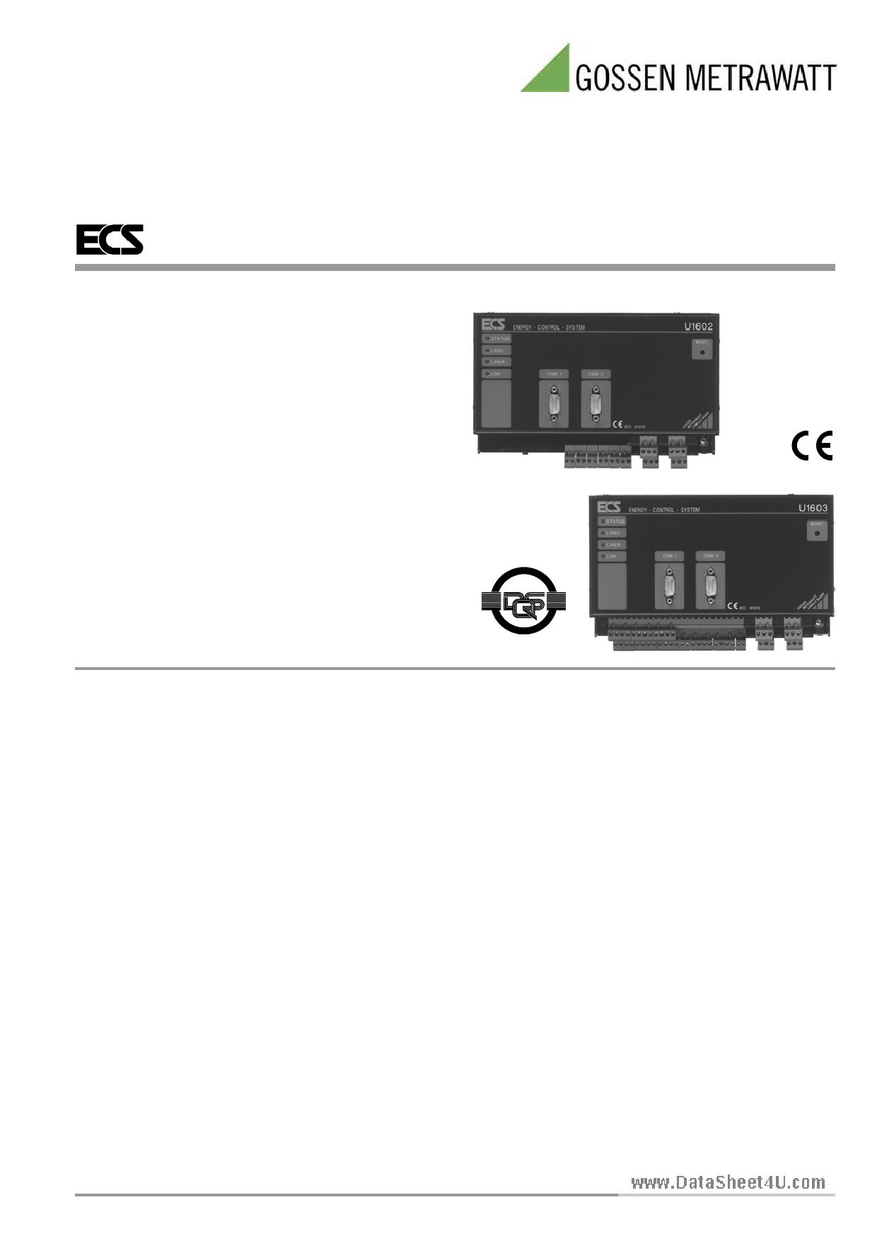U1603 دیتاشیت PDF